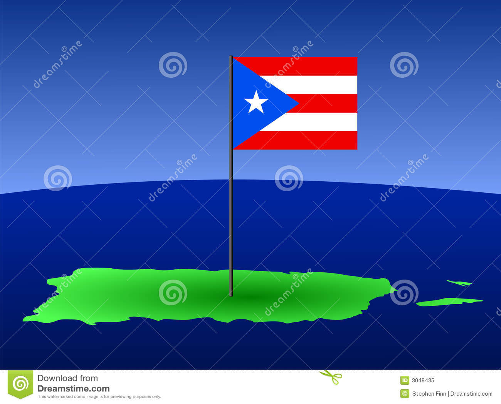 карта Пуерто Рико флага