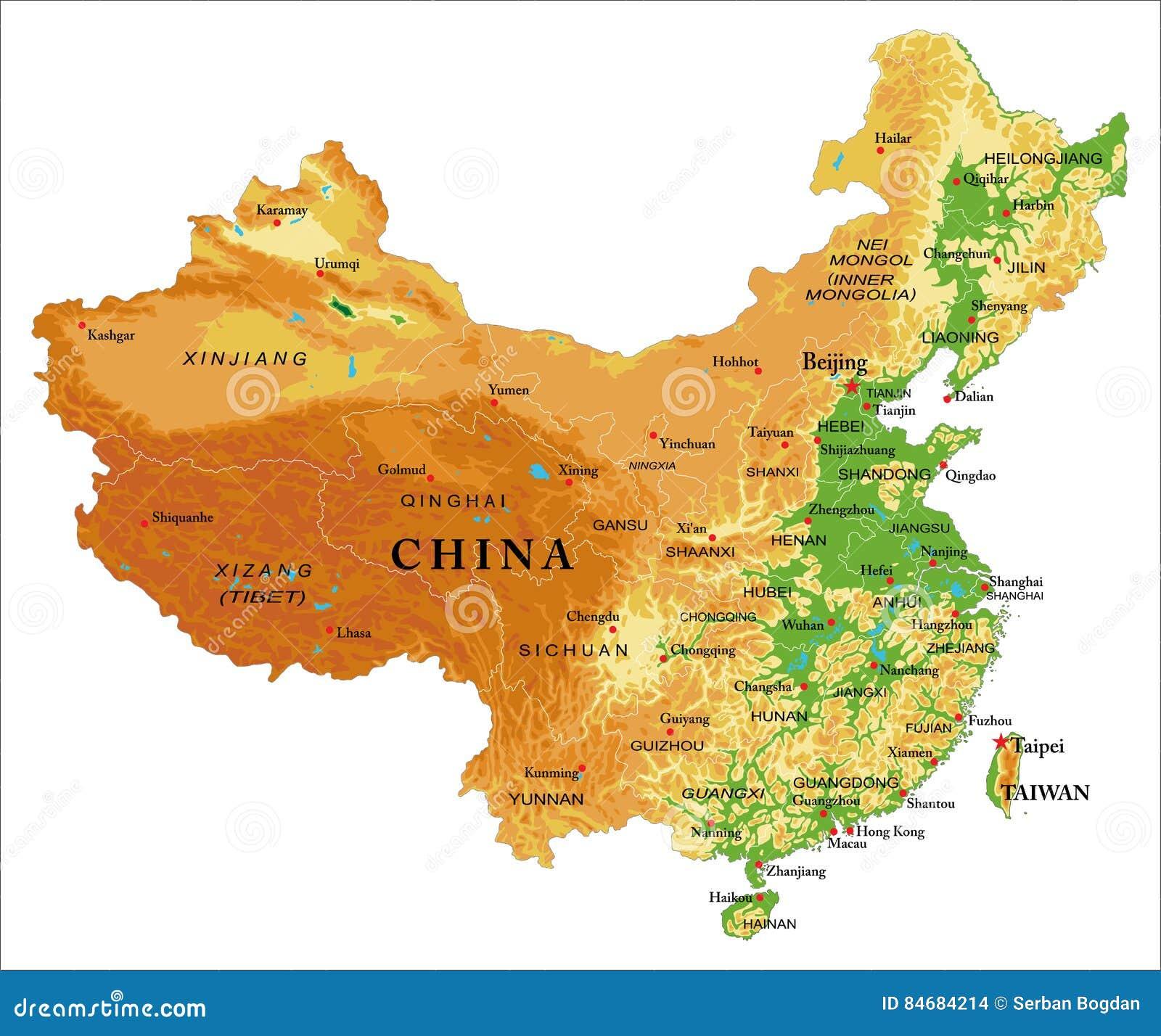 Карта сброса Китая