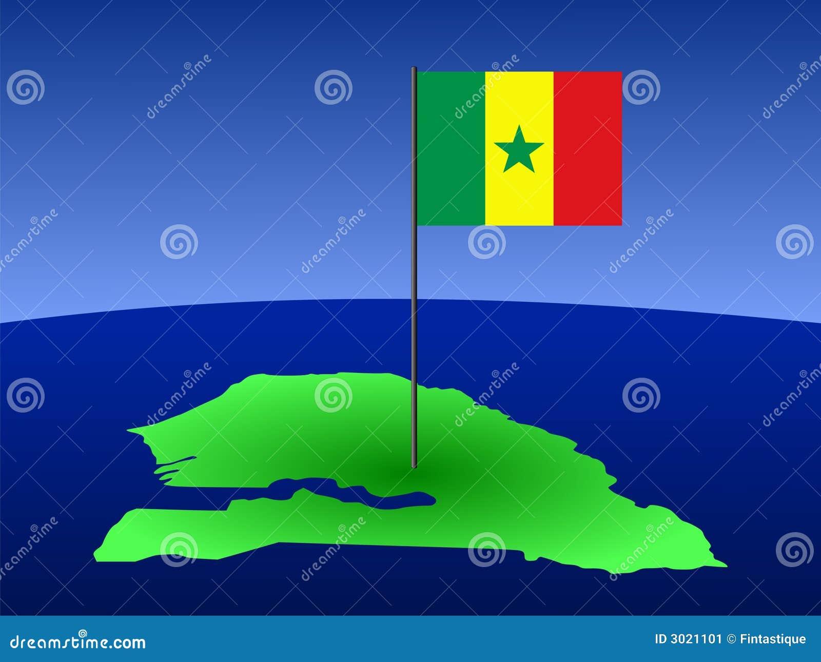карта Сенегал флага