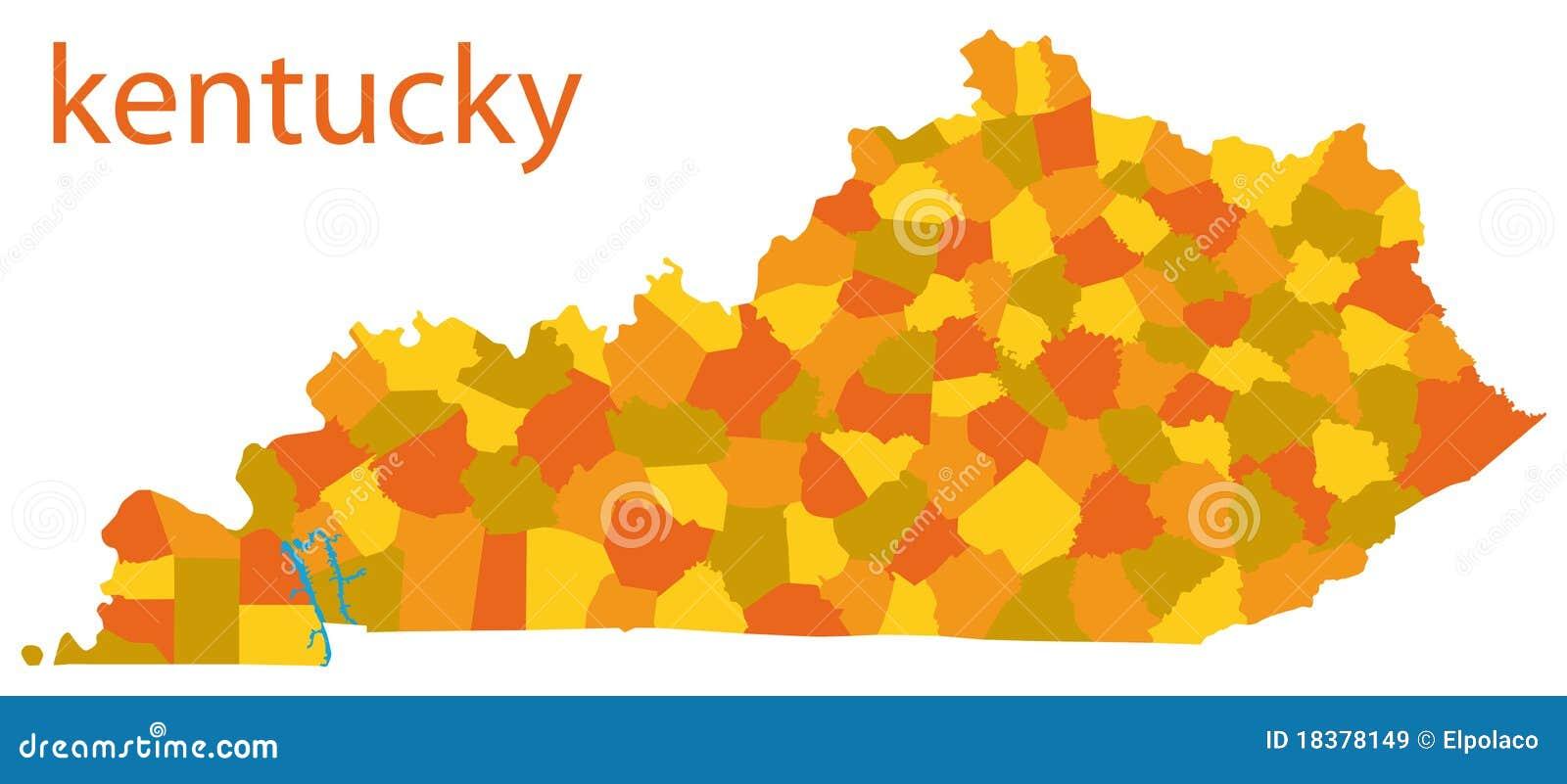 карта США Кентукки
