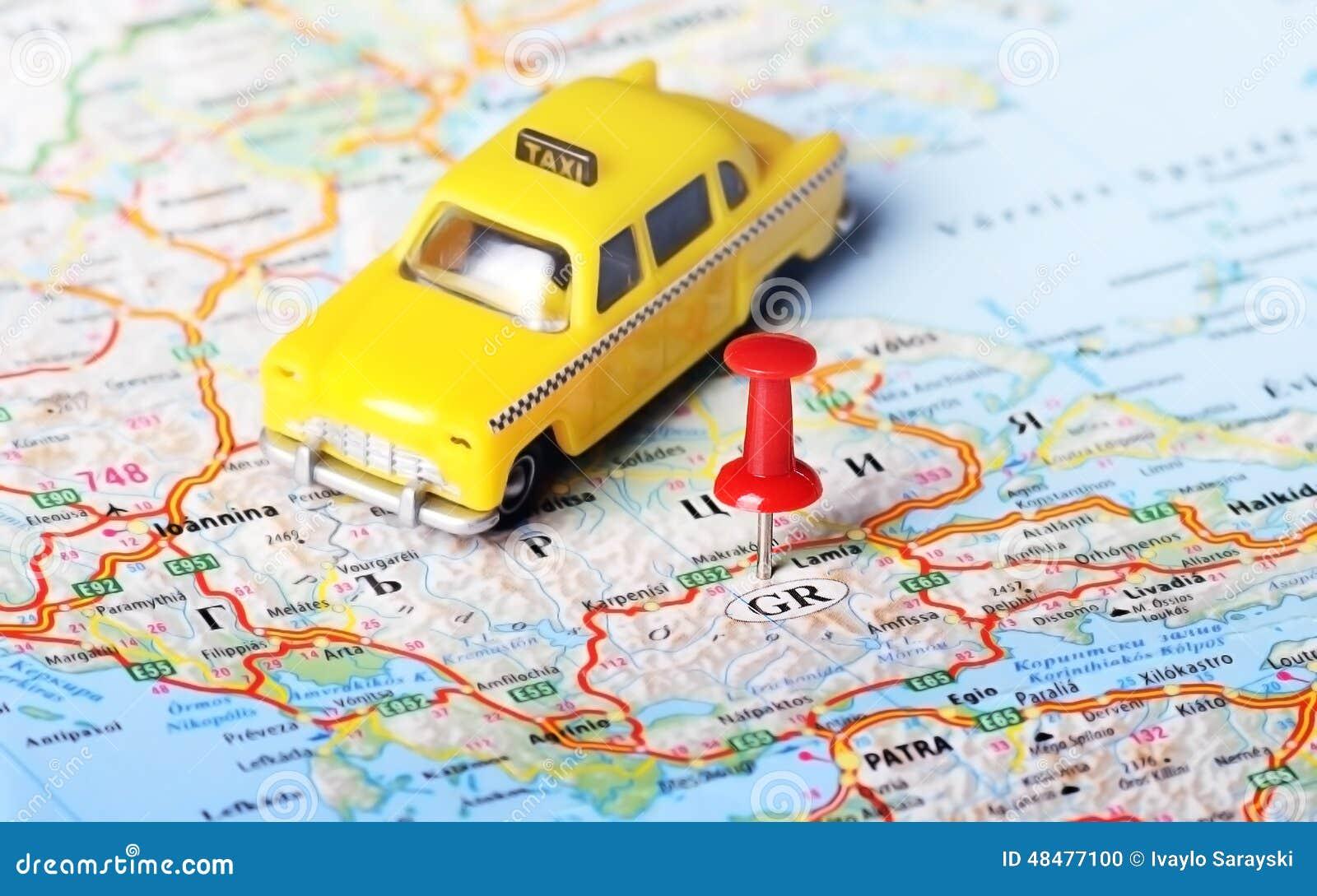 Карта такси Греции