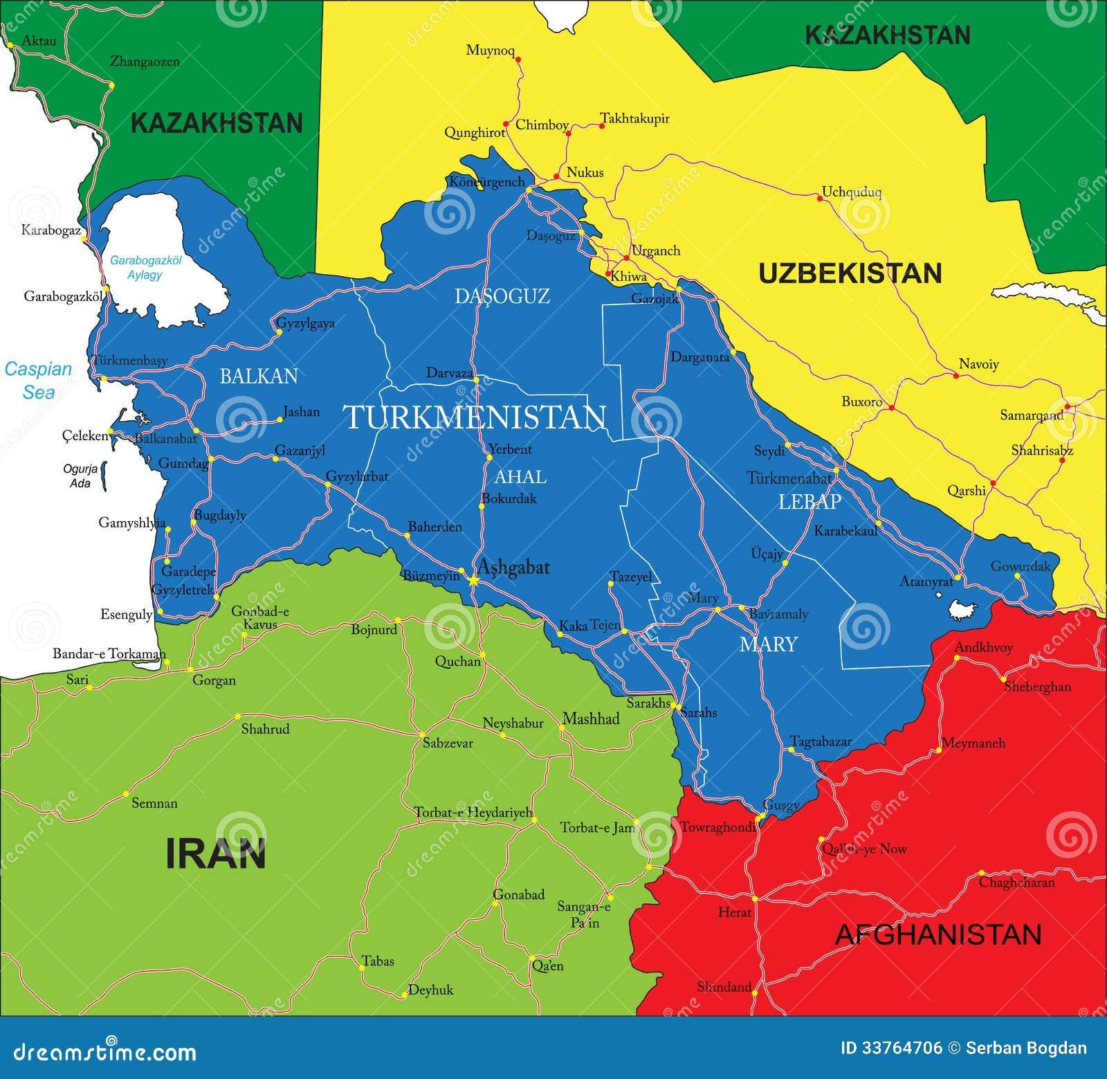 Картинки по запросу Туркменистан политическая карта