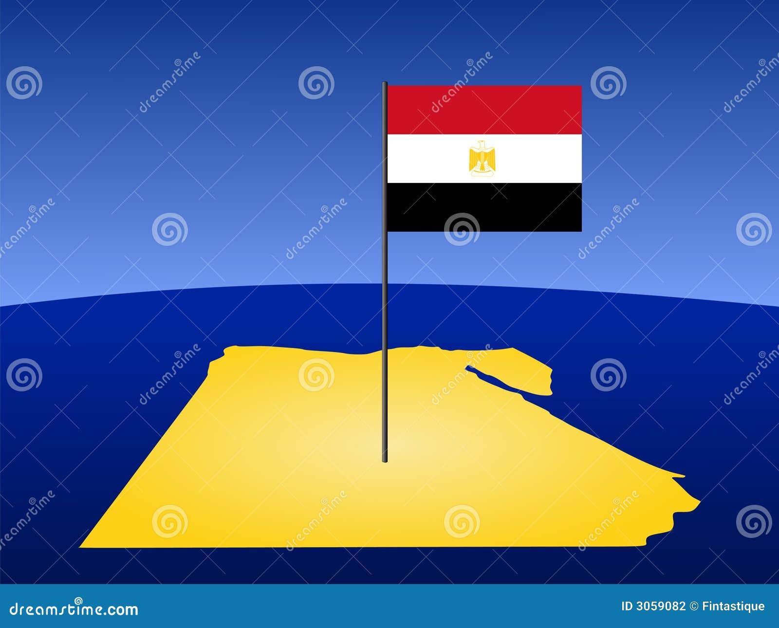 карта флага Египета