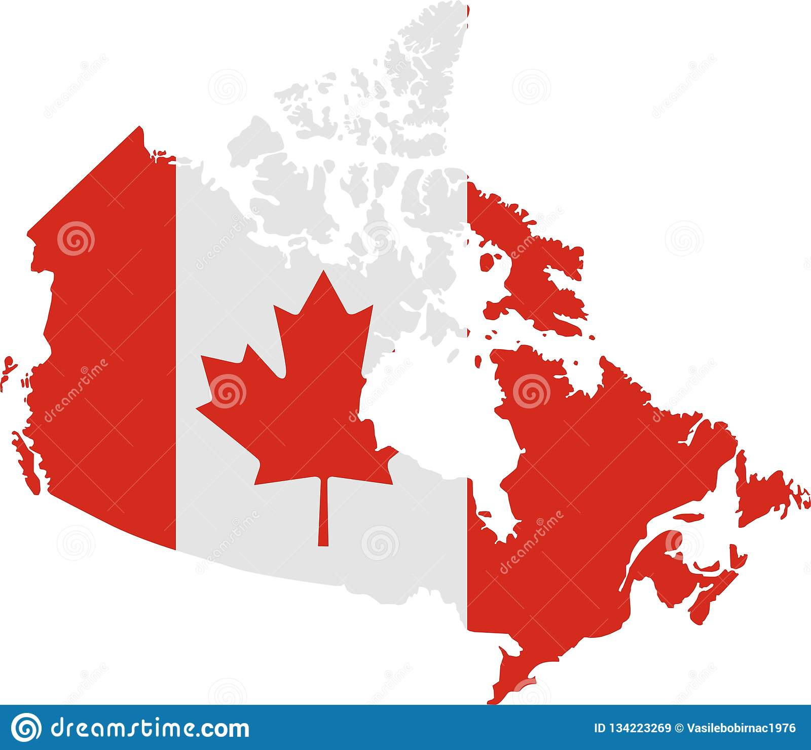 карта флага Канады