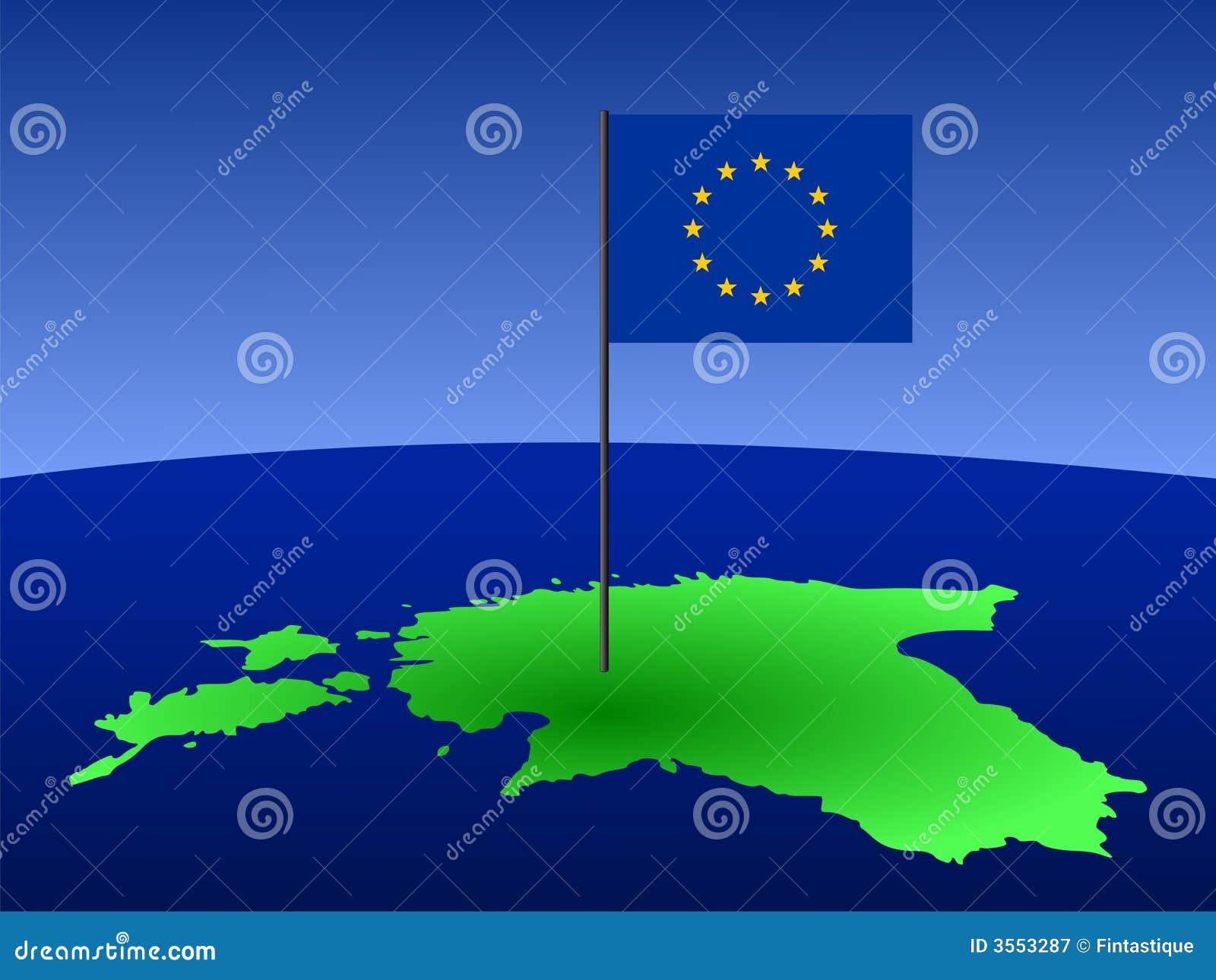 карта флага эстонии