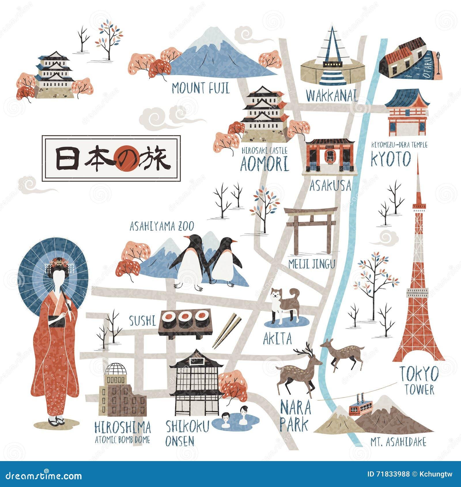 Карта Японии идя