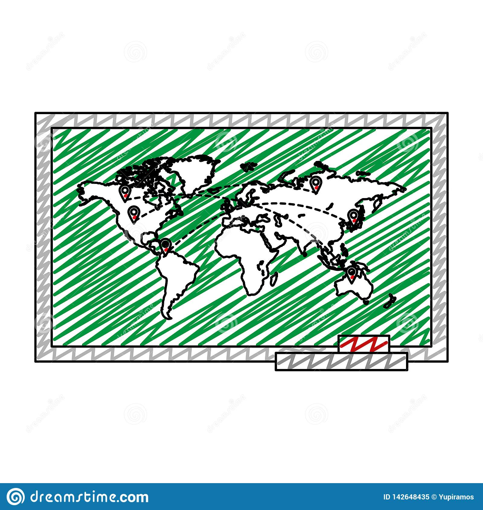 Карта Doodle глобальная с назначениями символов положений