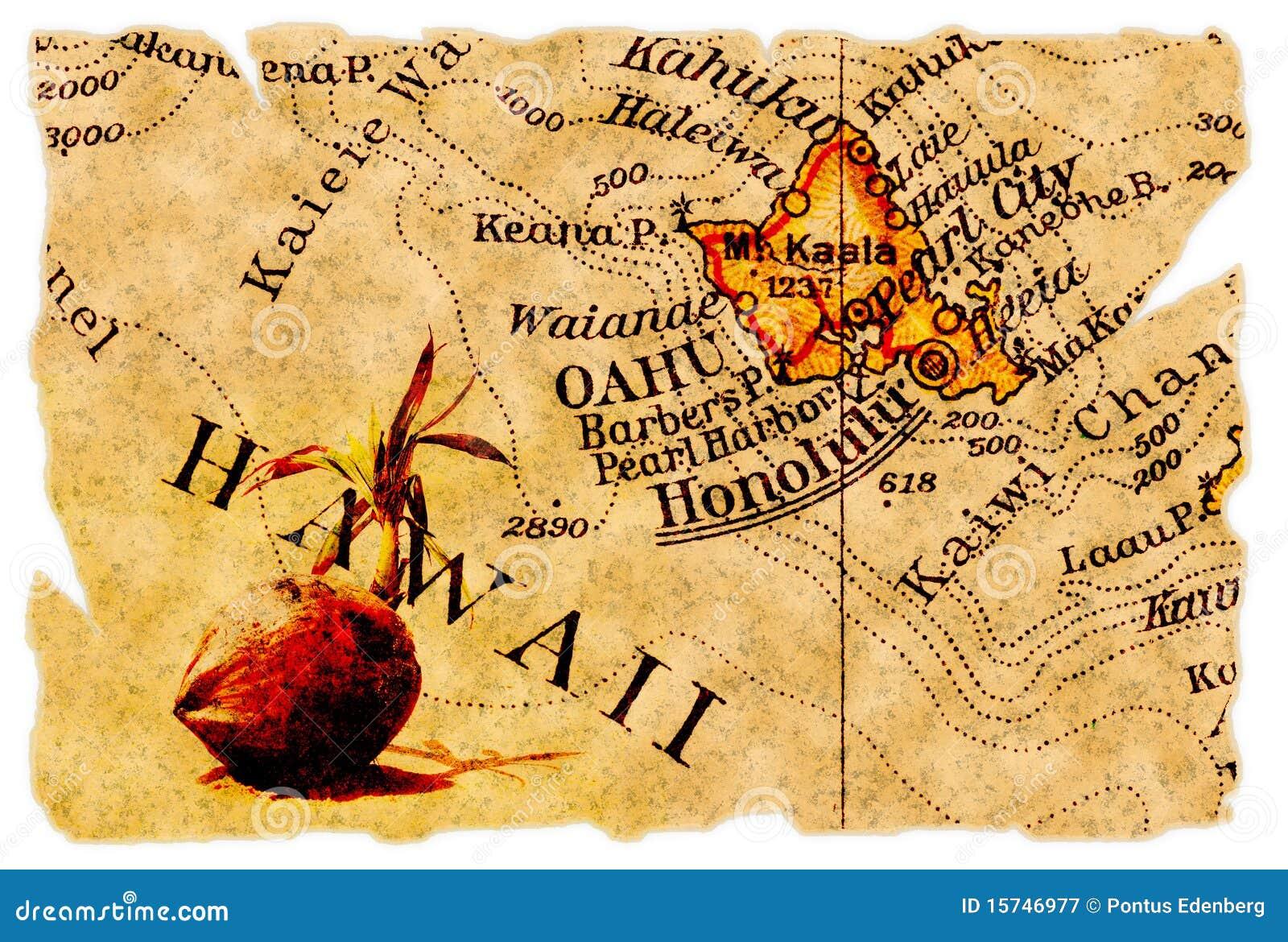 карта honolulu старая