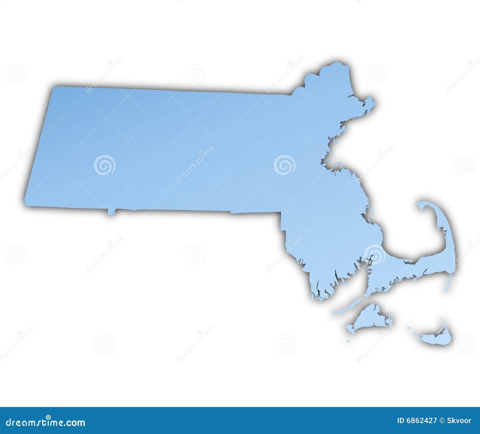карта massachusetts США
