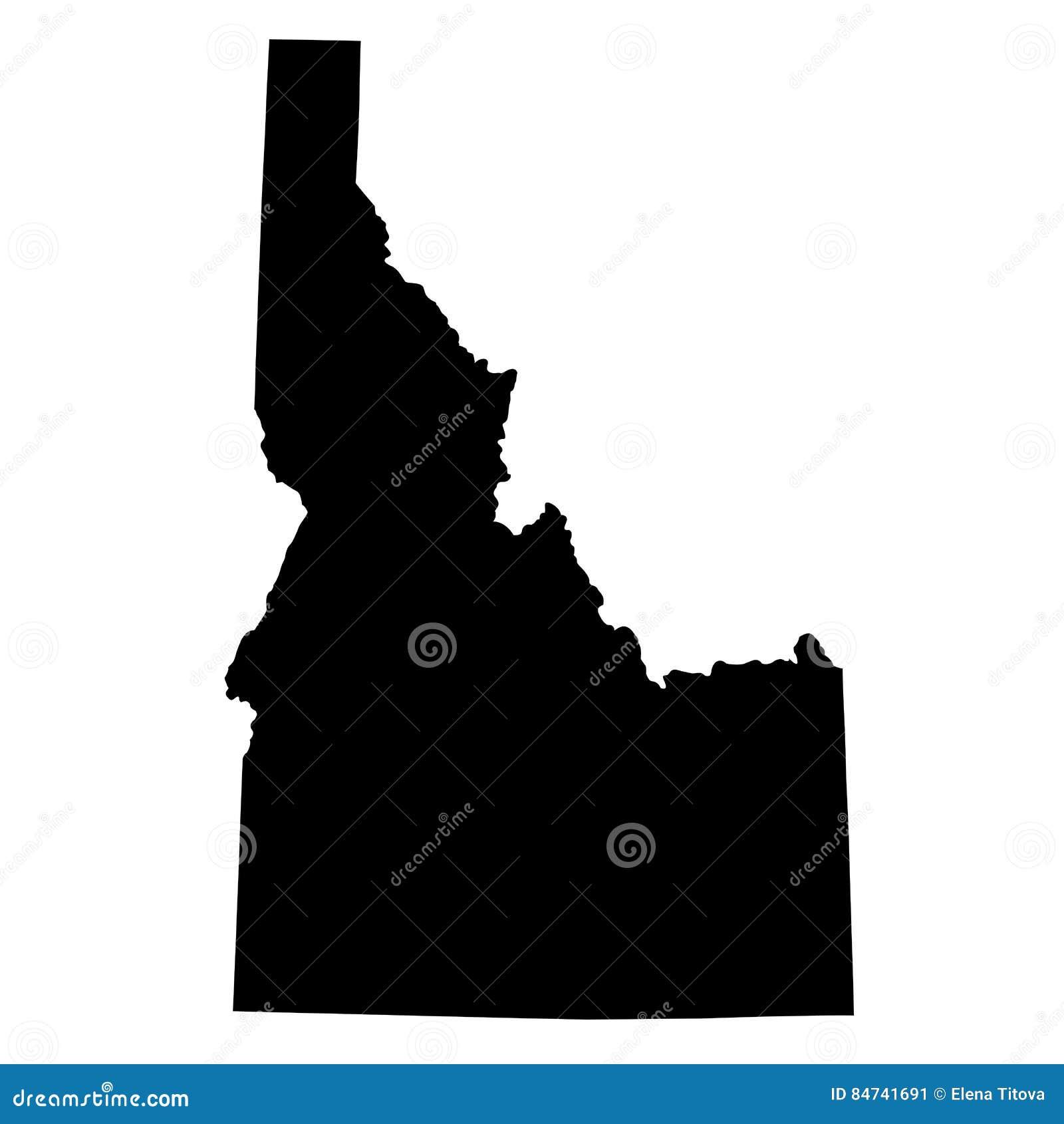 Карта u S положение Айдахо
