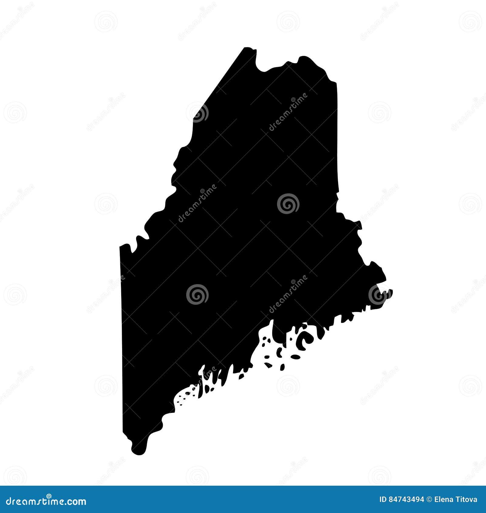 Карта u S Положение Мейн
