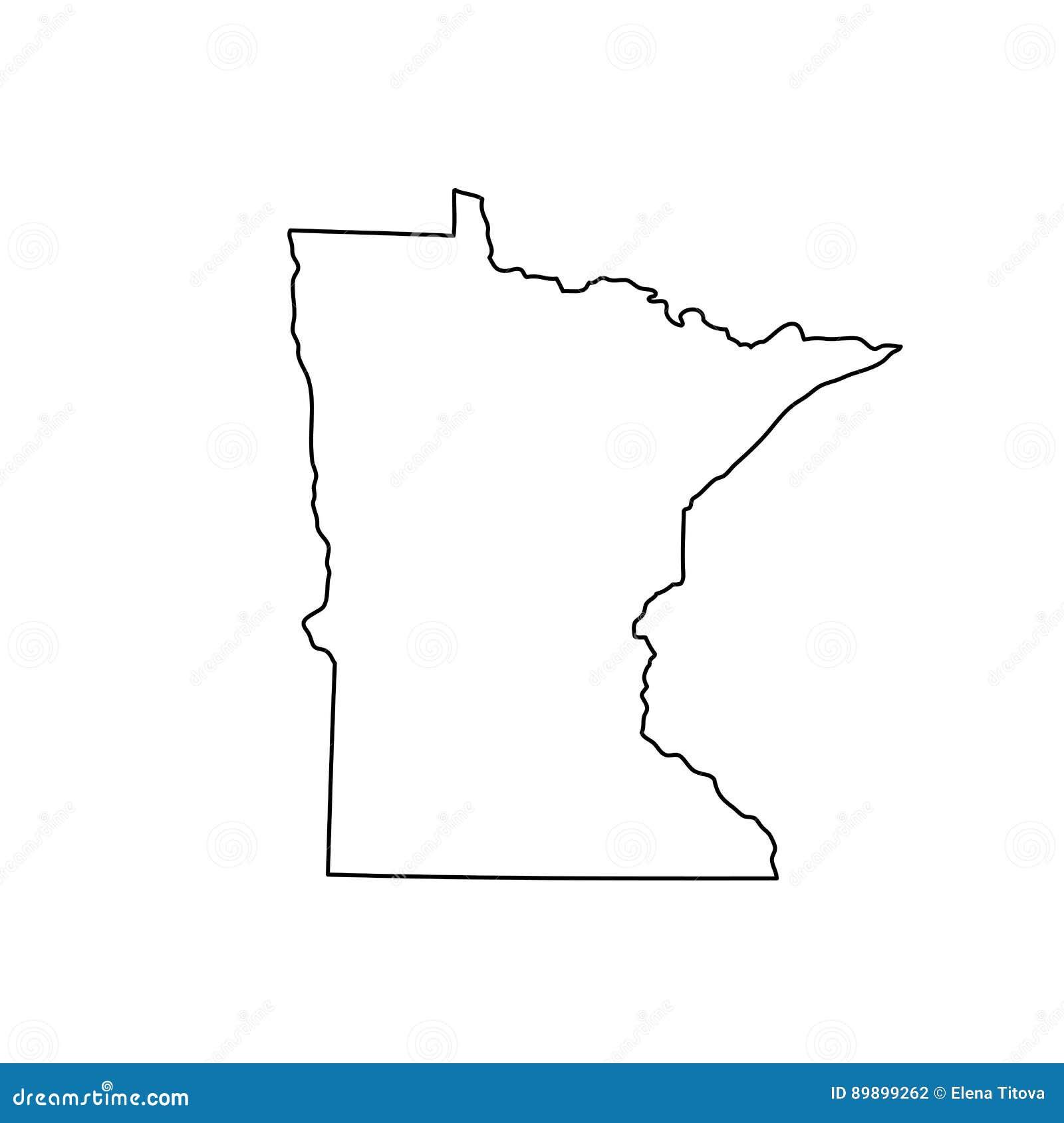Карта u S положение Минесота