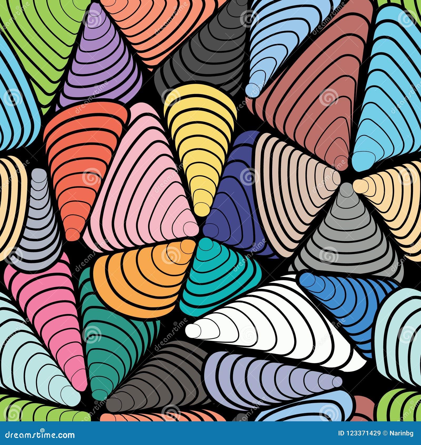 Картина абстрактного цвета безшовная