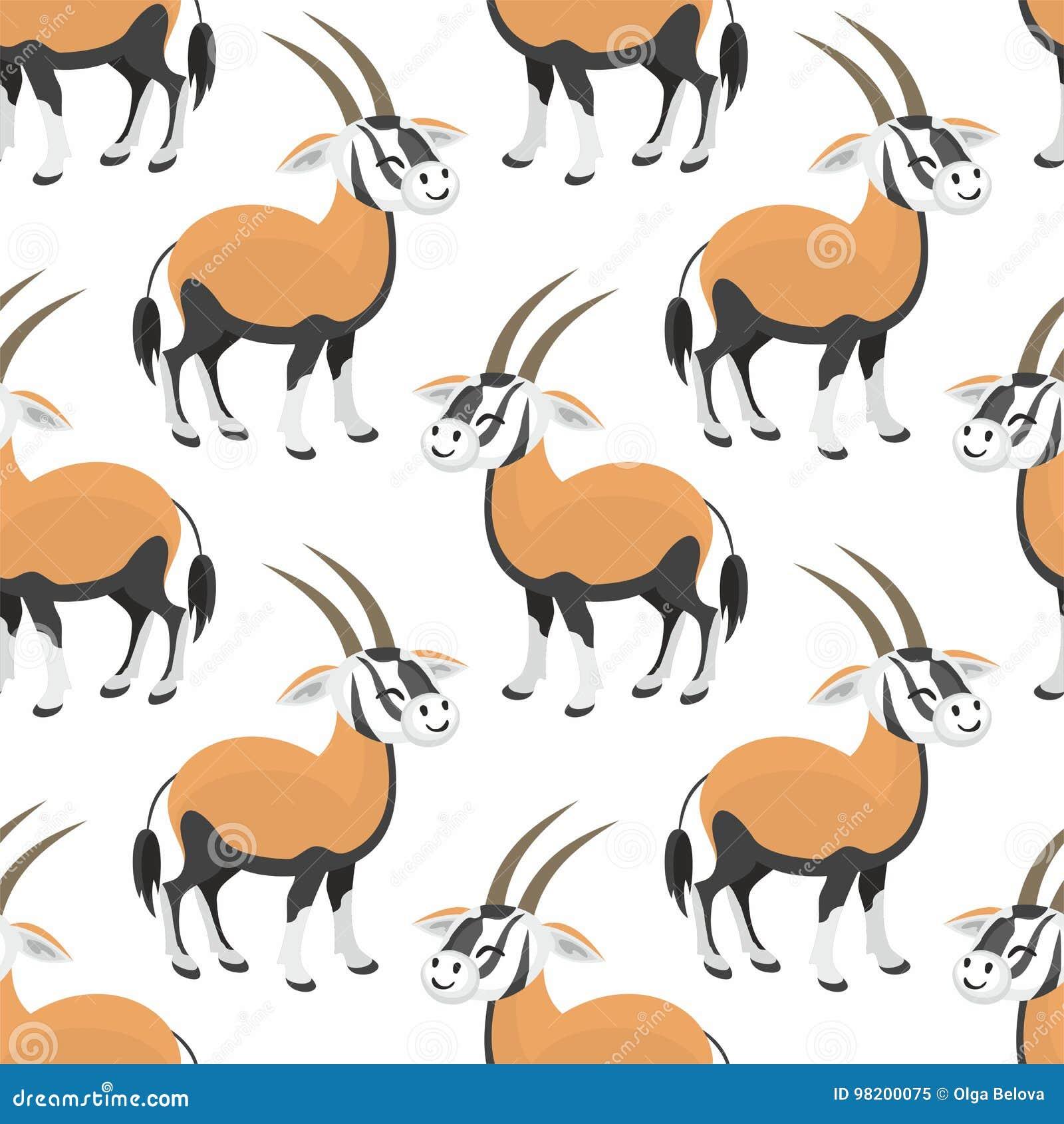 Download Картина антилопы безшовная иллюстрация вектора. иллюстрации насчитывающей изображение - 98200075