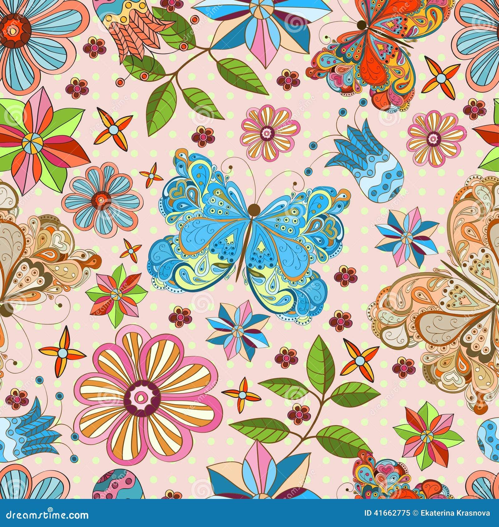 картина бабочки безшовная