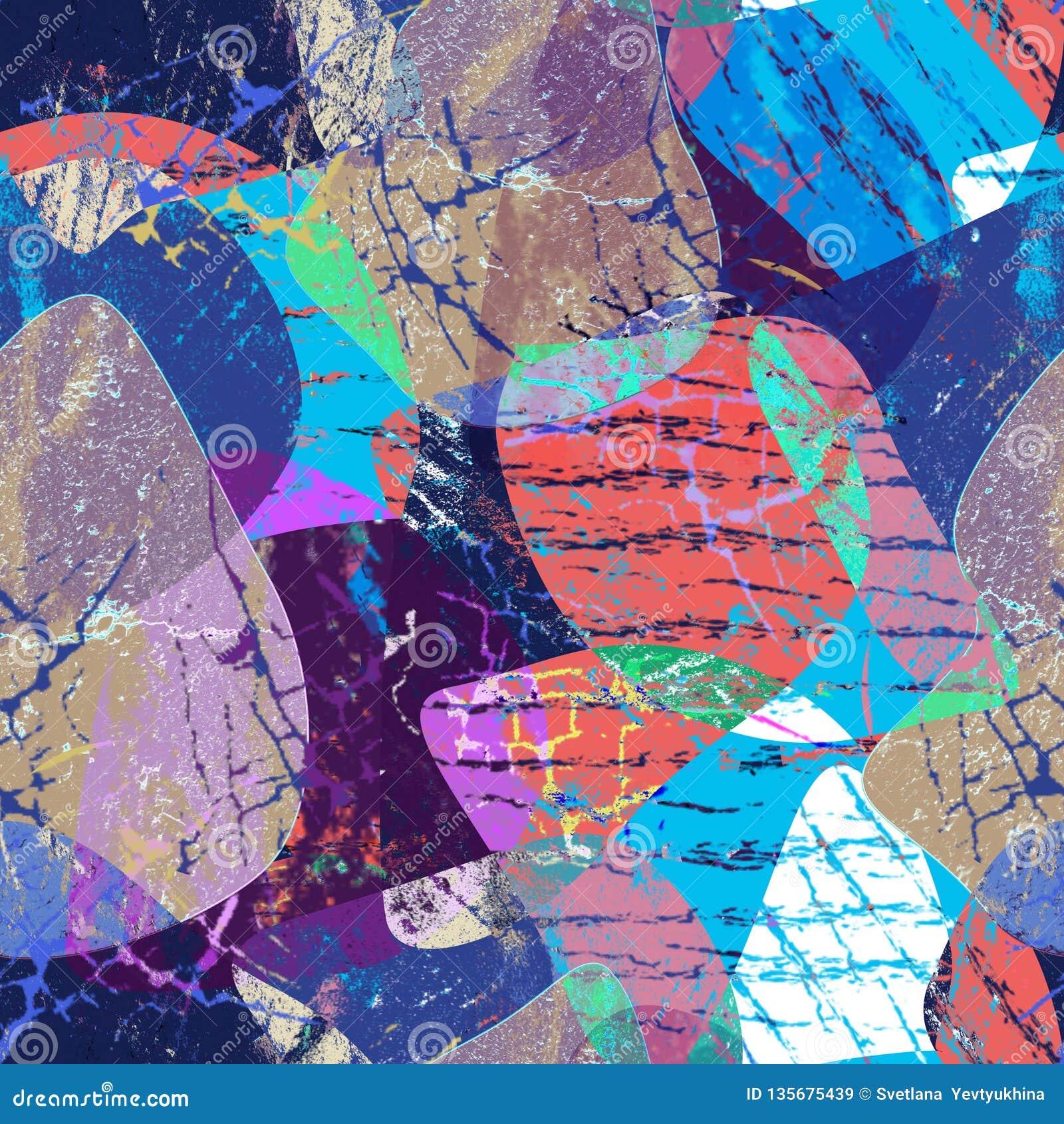 Картина безшовного grunge абстрактная Multicolor предпосылка