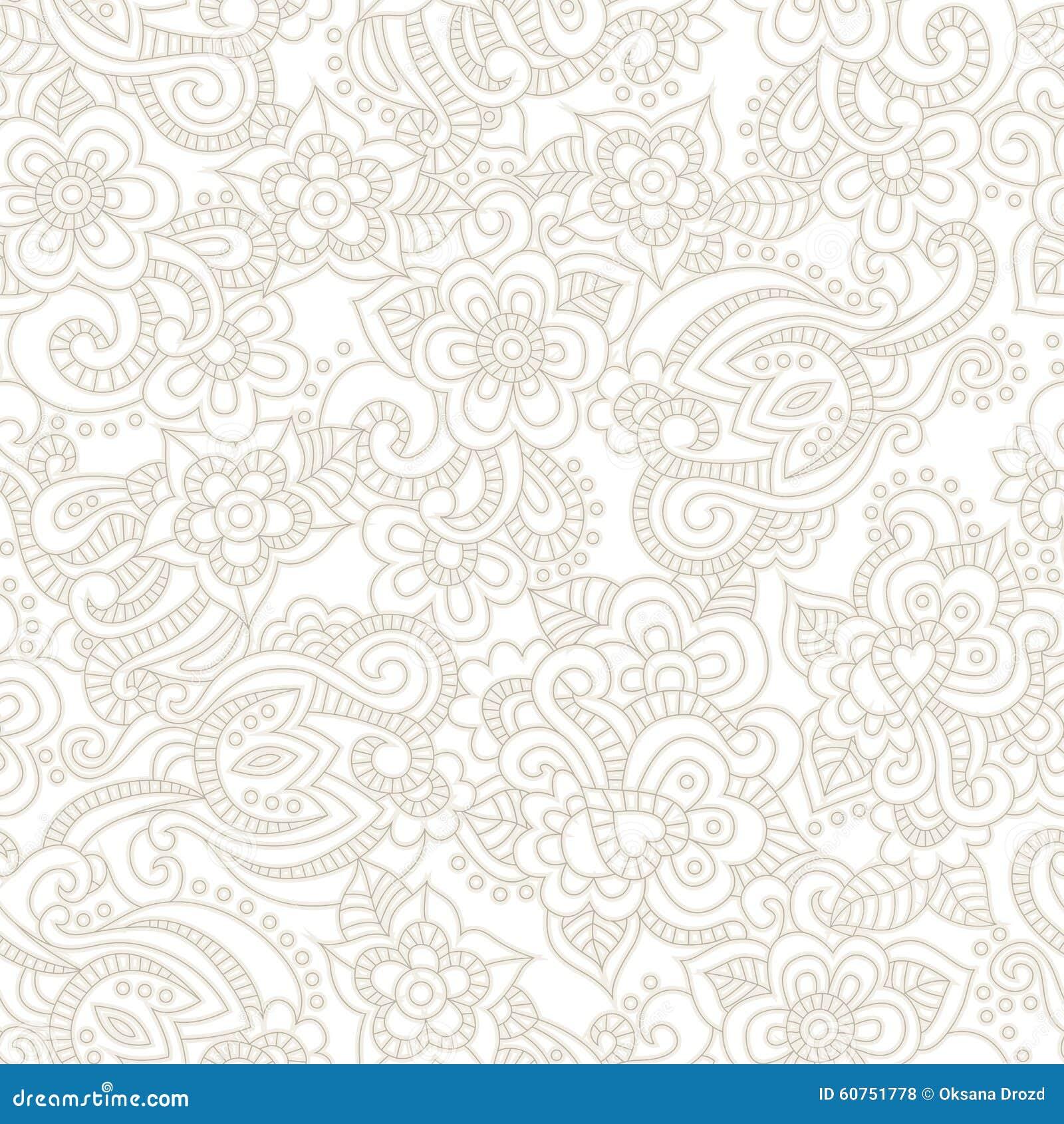 Картина вектора безшовная с романтичной флористической предпосылкой