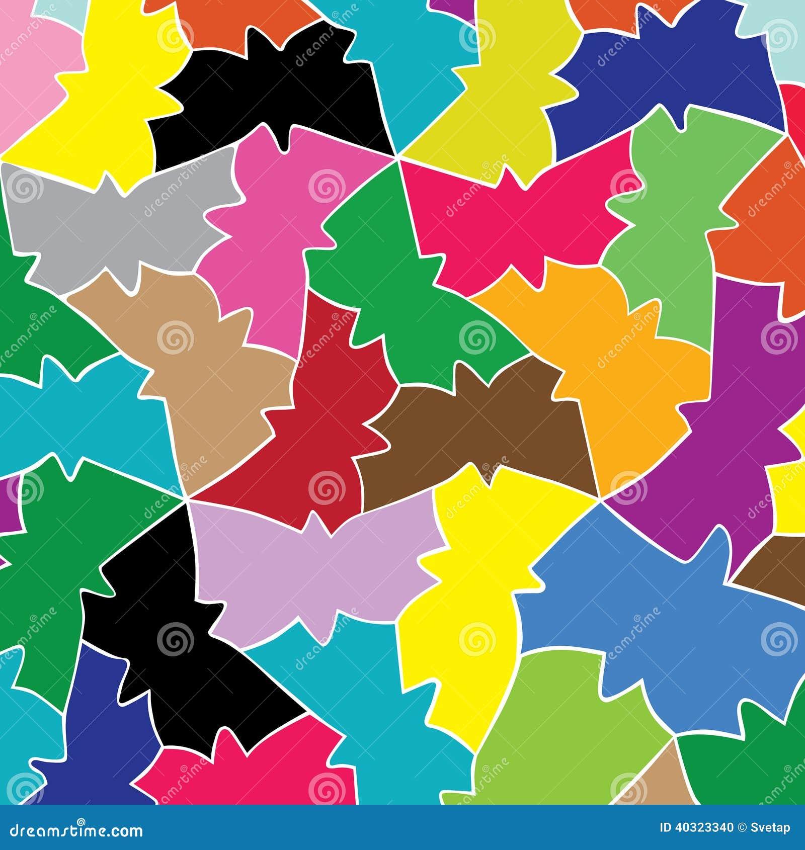 Картина влюбленности геометрической бабочки