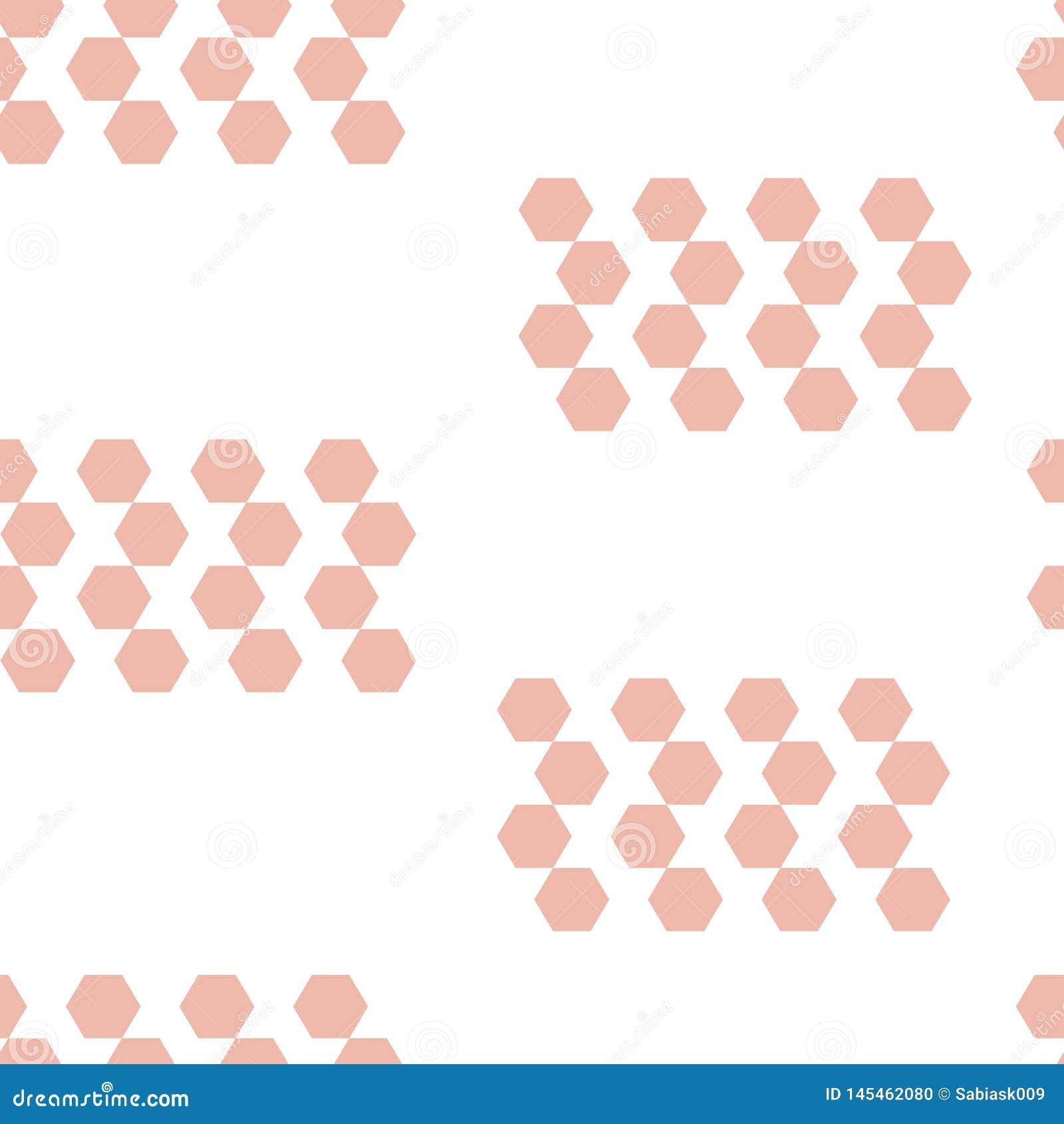 Картина геометрического шестиугольника форм безшовная