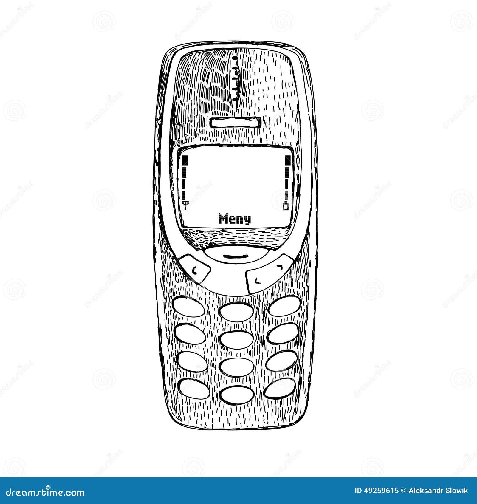 Картина года сбора винограда Nokia 3310 телефона