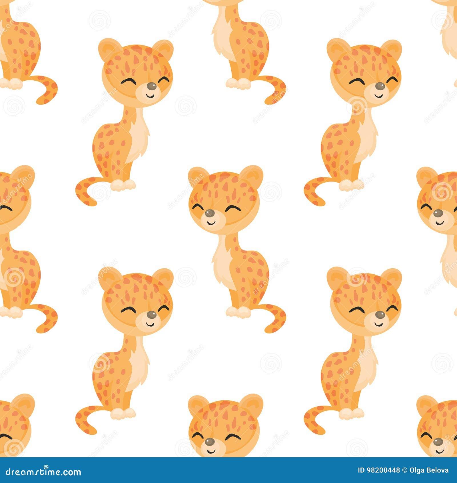 Download картина леопарда безшовная иллюстрация вектора. иллюстрации насчитывающей afoul - 98200448