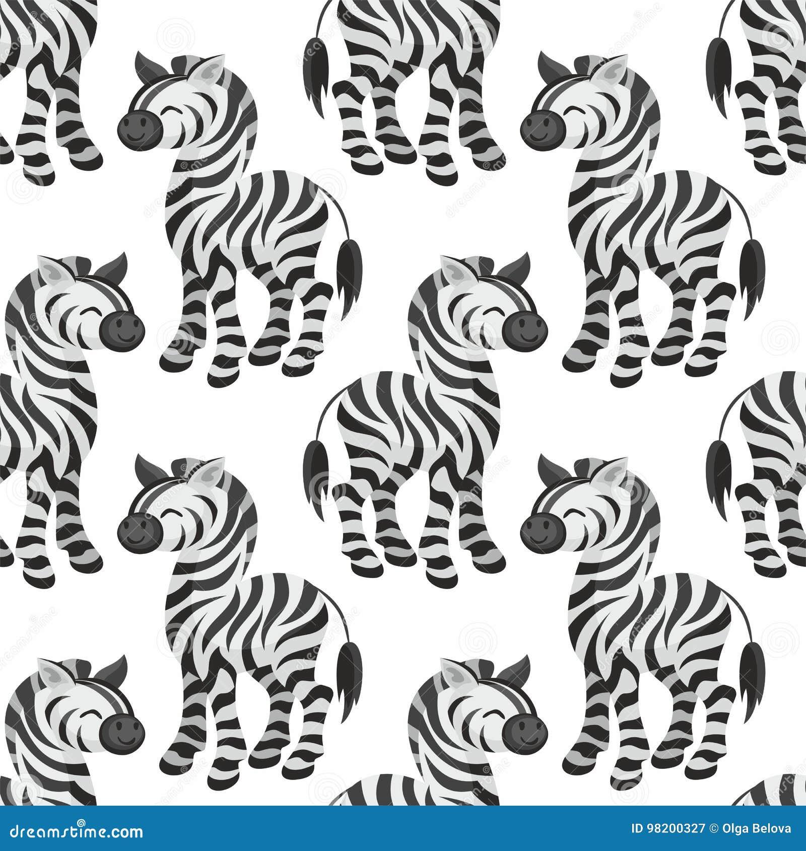 Download Картина зебры безшовная иллюстрация вектора. иллюстрации насчитывающей новичок - 98200327