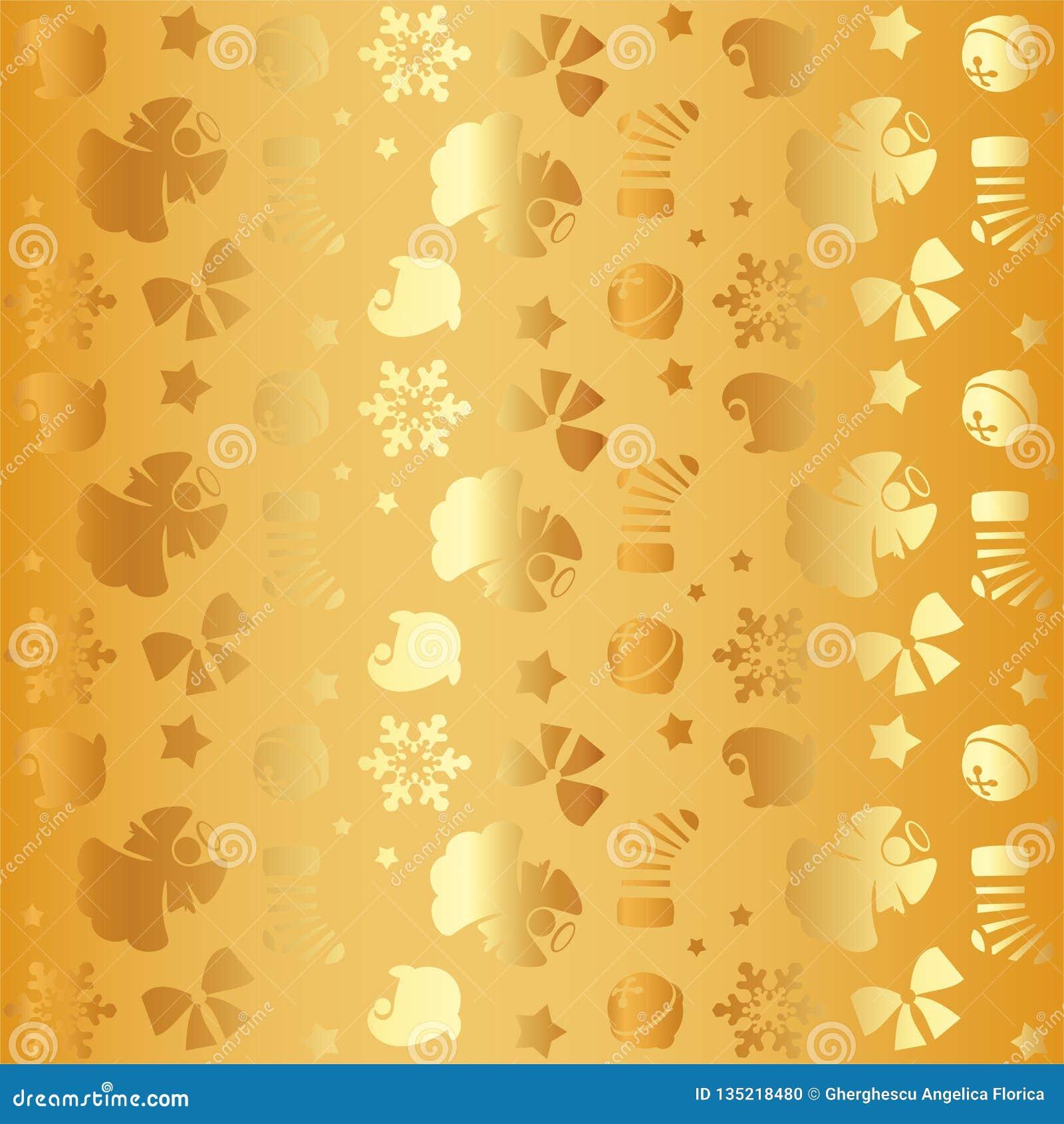Картина золотого элемента рождества sseamless