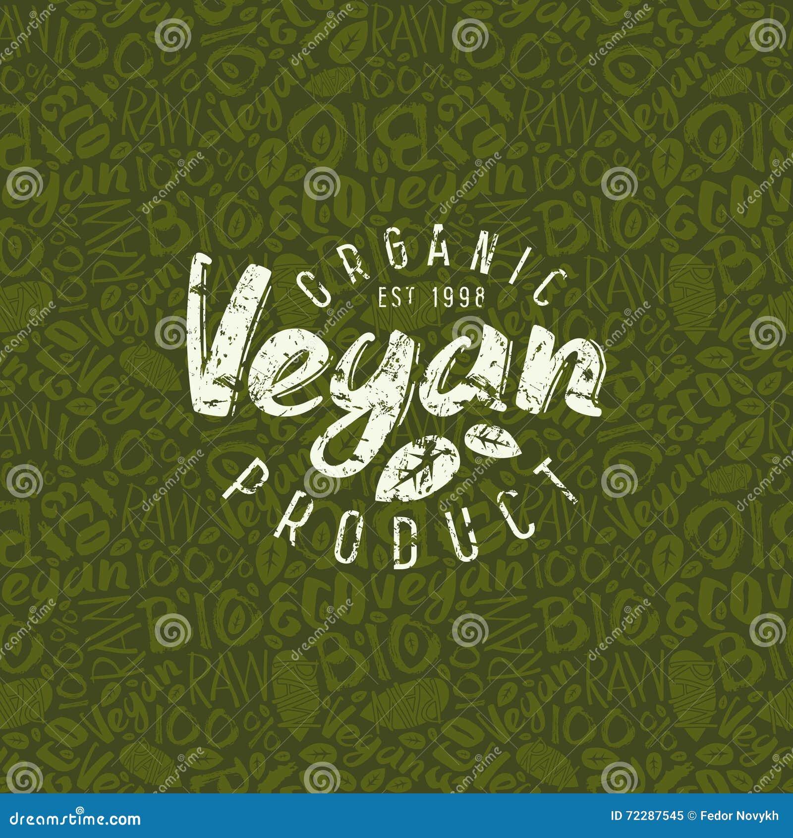 Download Картина и эмблема сырцового Vegan безшовная Иллюстрация вектора - иллюстрации насчитывающей листья, ярлык: 72287545