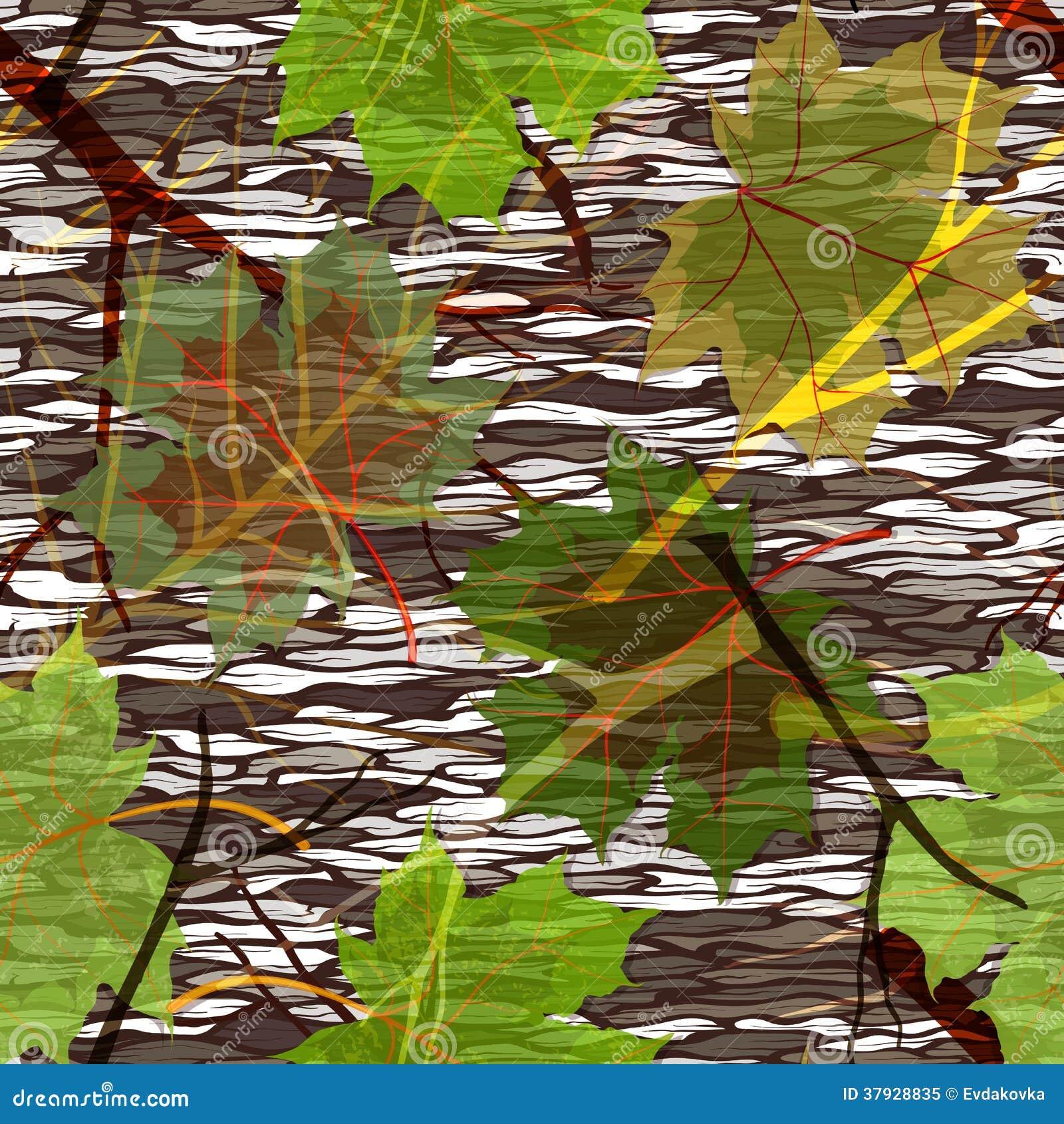 Картина камуфлирования безшовная с кленовыми листами