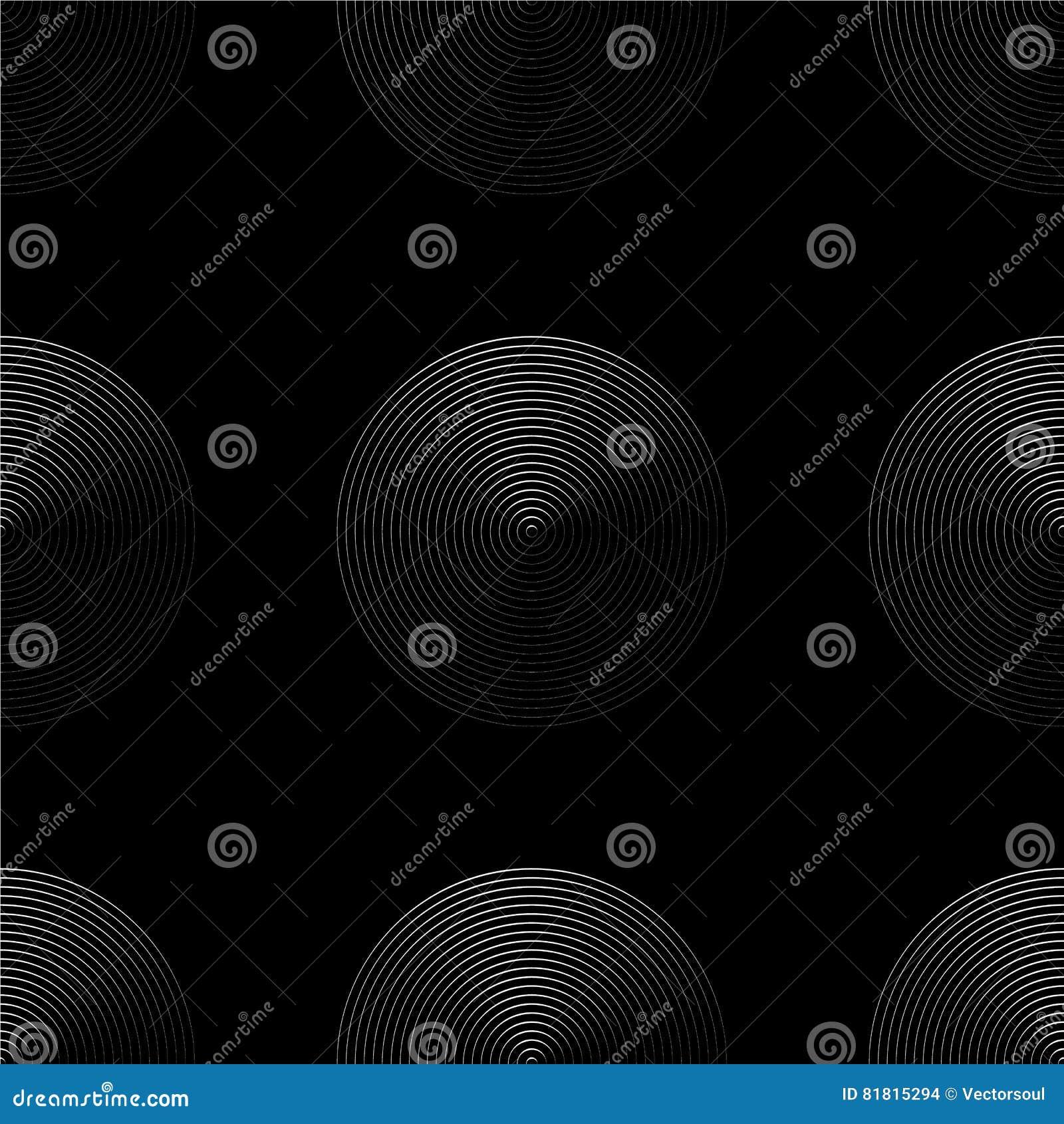 Картина концентрических кругов безшовная monochrome Абстрактное geometr