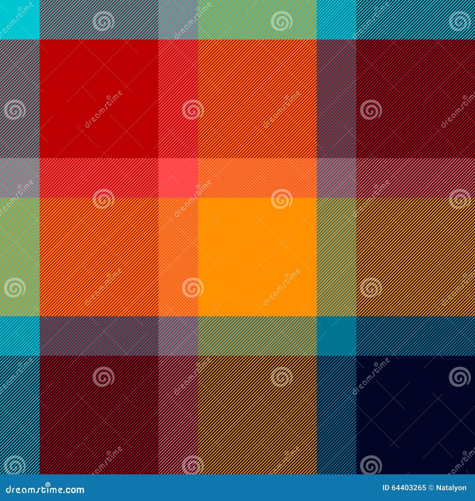 Картина красочной checkered ткани тартана безшовная, вектор
