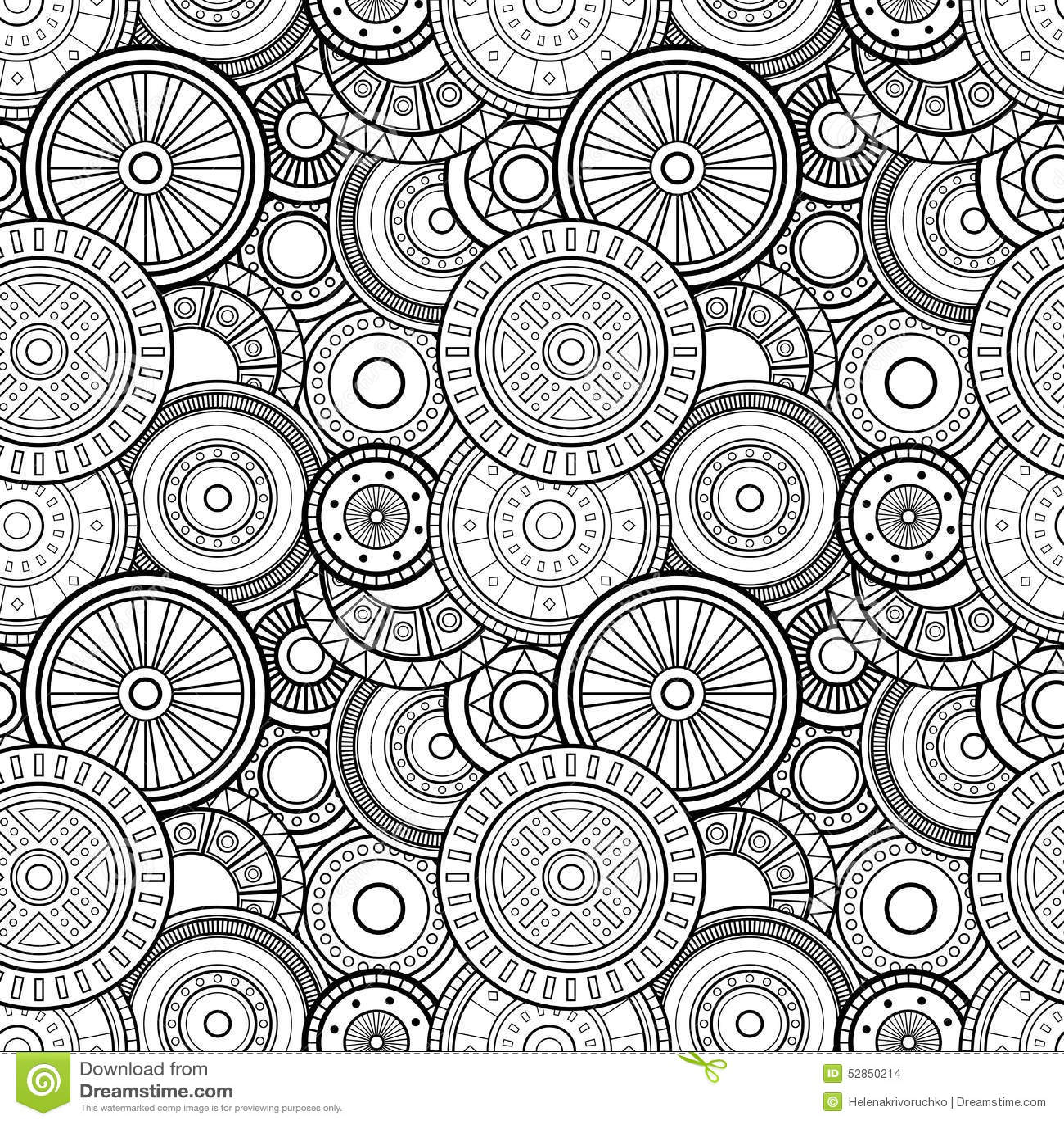Картина кругов вектора безшовная Monochrome