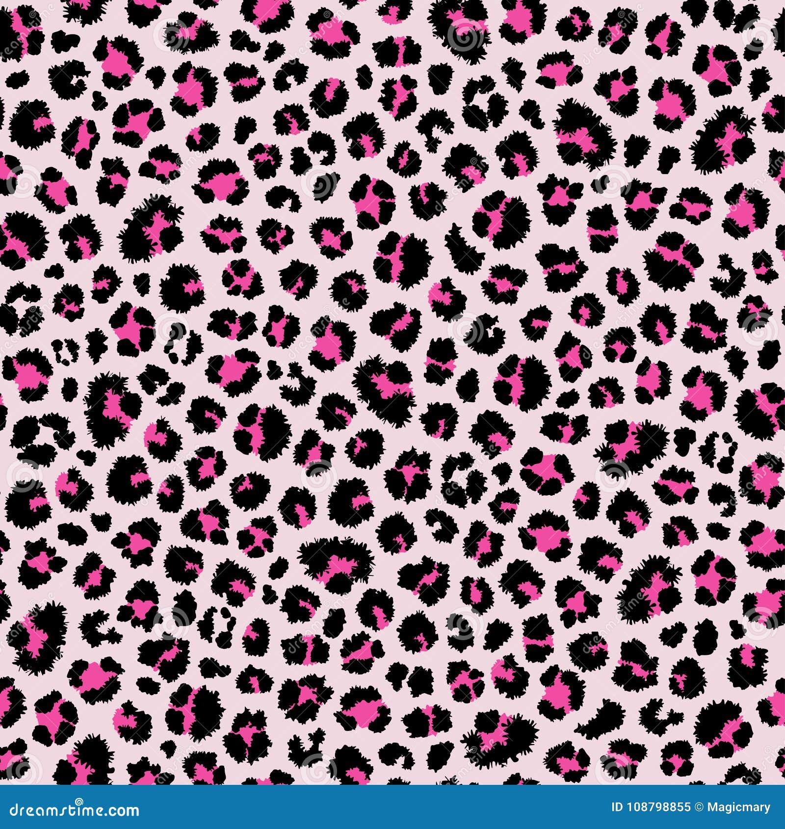 картина леопарда безшовная Животная печать Предпосылка вектора