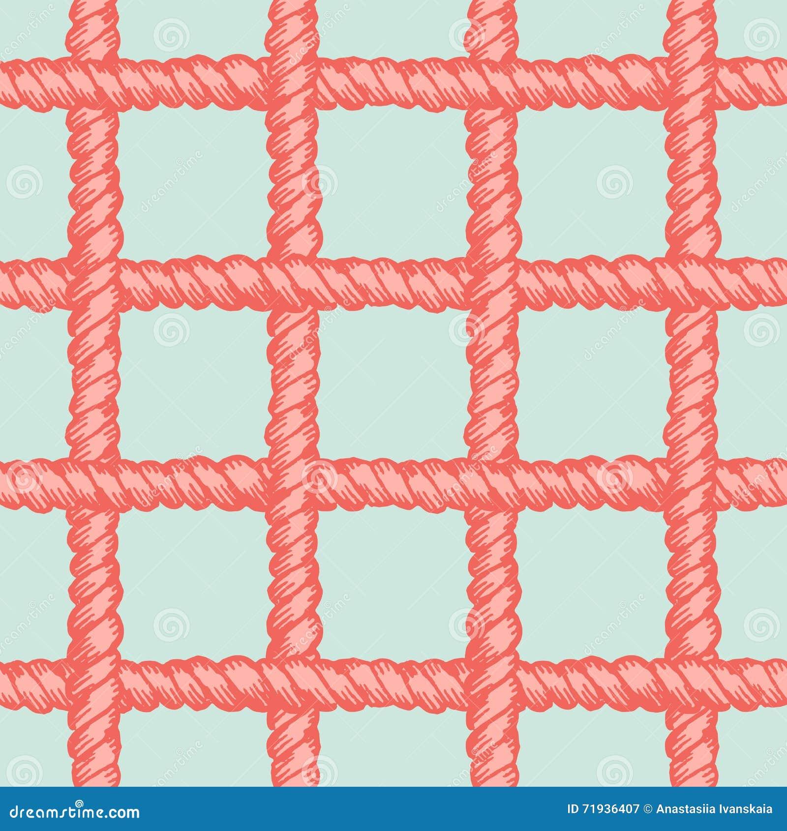 Картина морской сети веревочки безшовная
