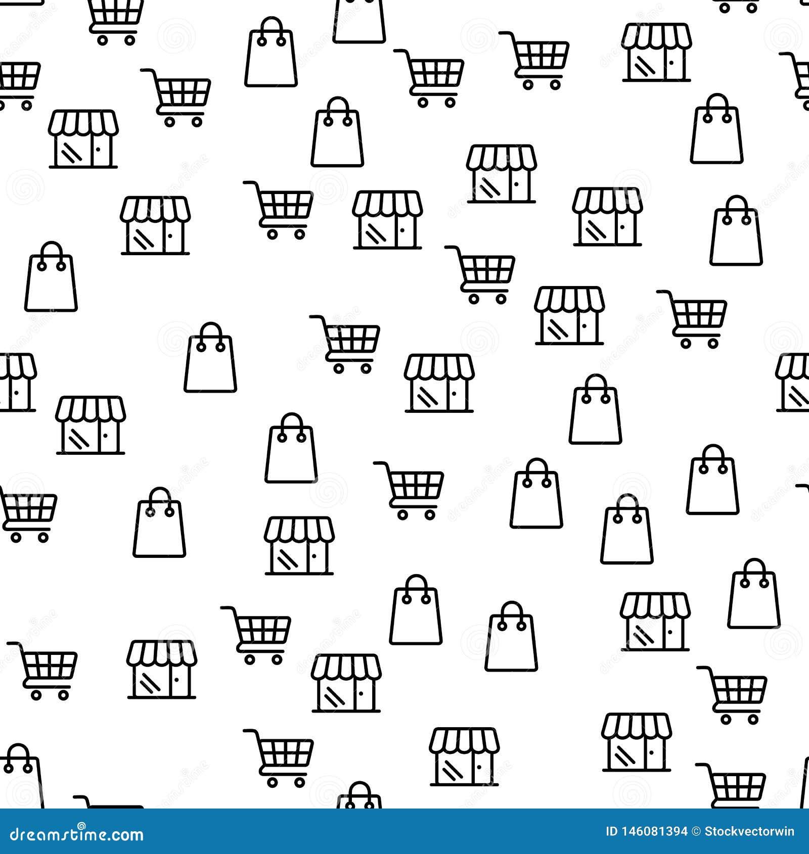 Картина онлайн скидок предложения магазина больших безшовная