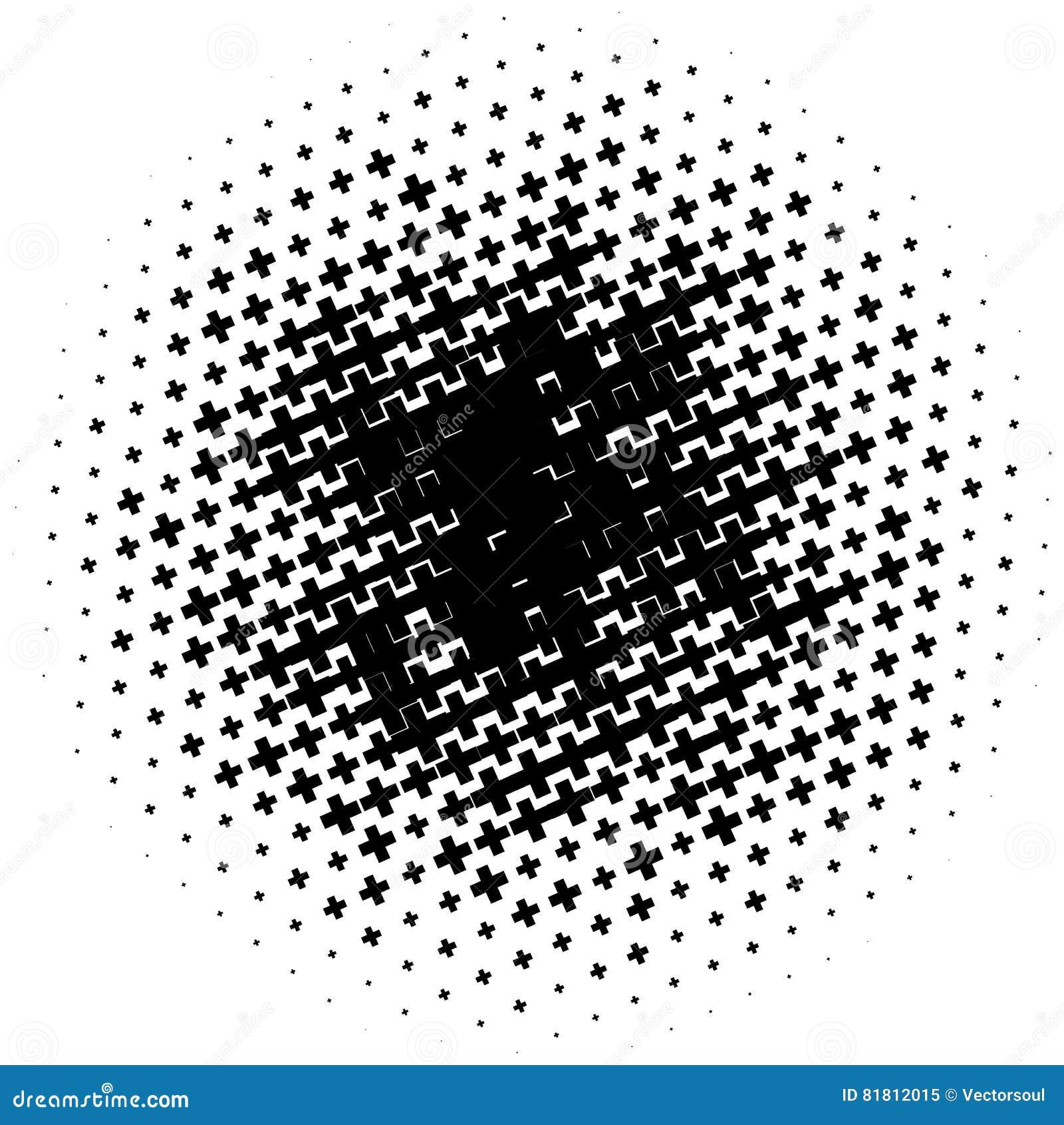 Картина полутонового изображения сделанная крестов Monochrome картина полутонового изображения/