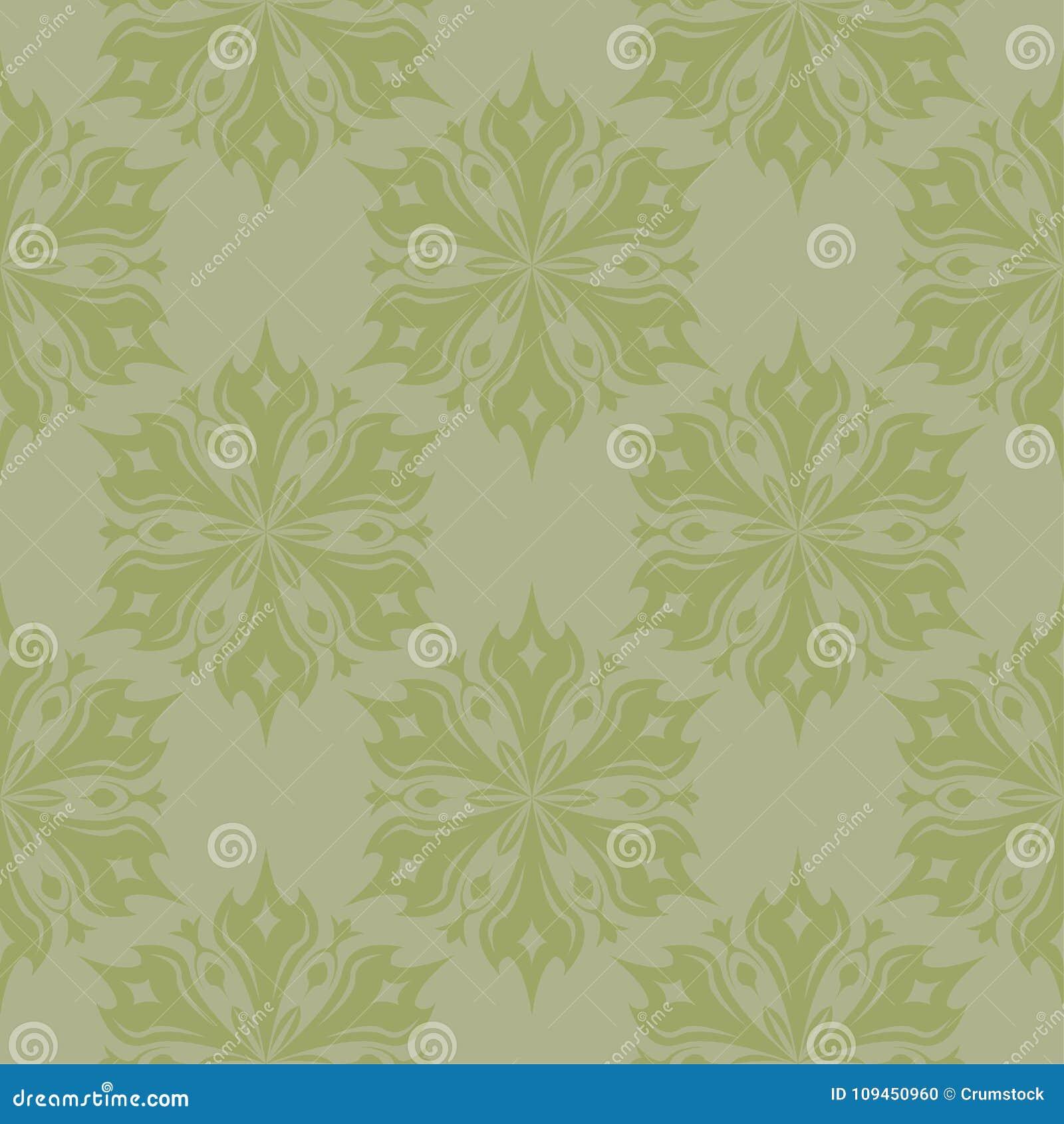 Картина прованского зеленого цвета флористическая безшовная