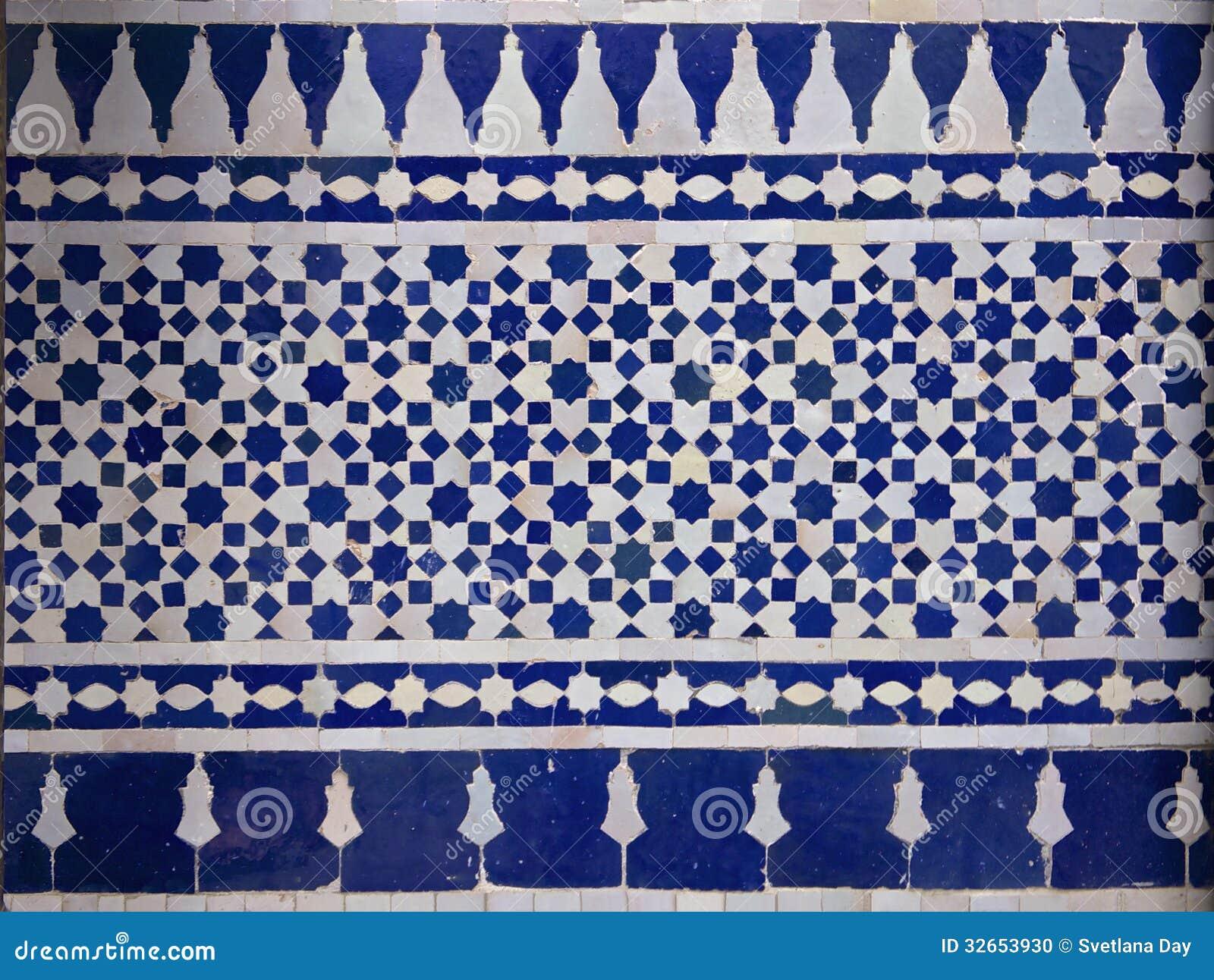Картина плитки Zellige марокканца