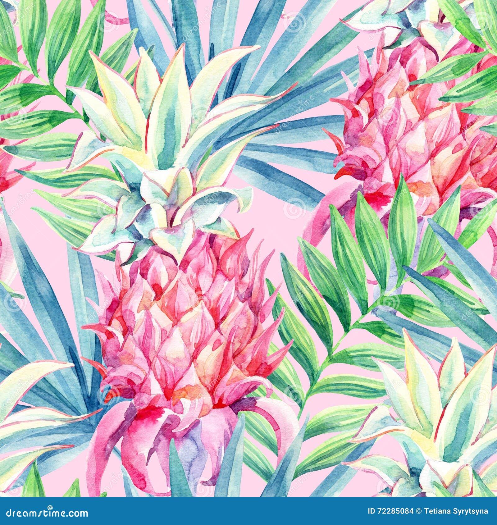 Download Картина плодоовощ ананаса акварели безшовная Иллюстрация штока - иллюстрации насчитывающей гаваиско, природа: 72285084