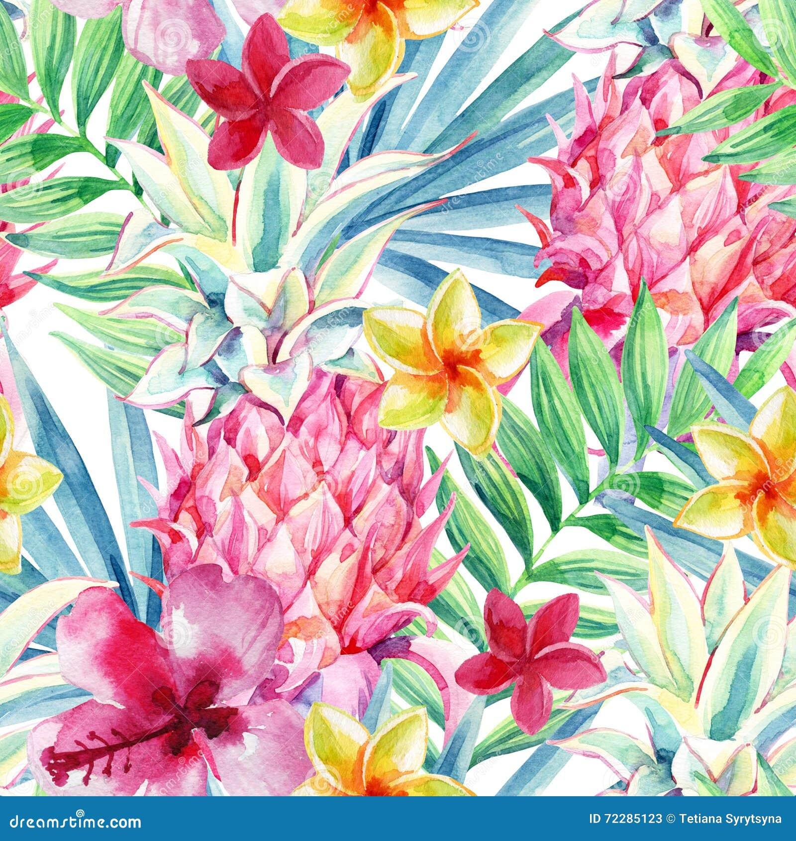 Download Картина плодоовощ ананаса акварели безшовная Иллюстрация штока - иллюстрации насчитывающей иллюстрация, природа: 72285123