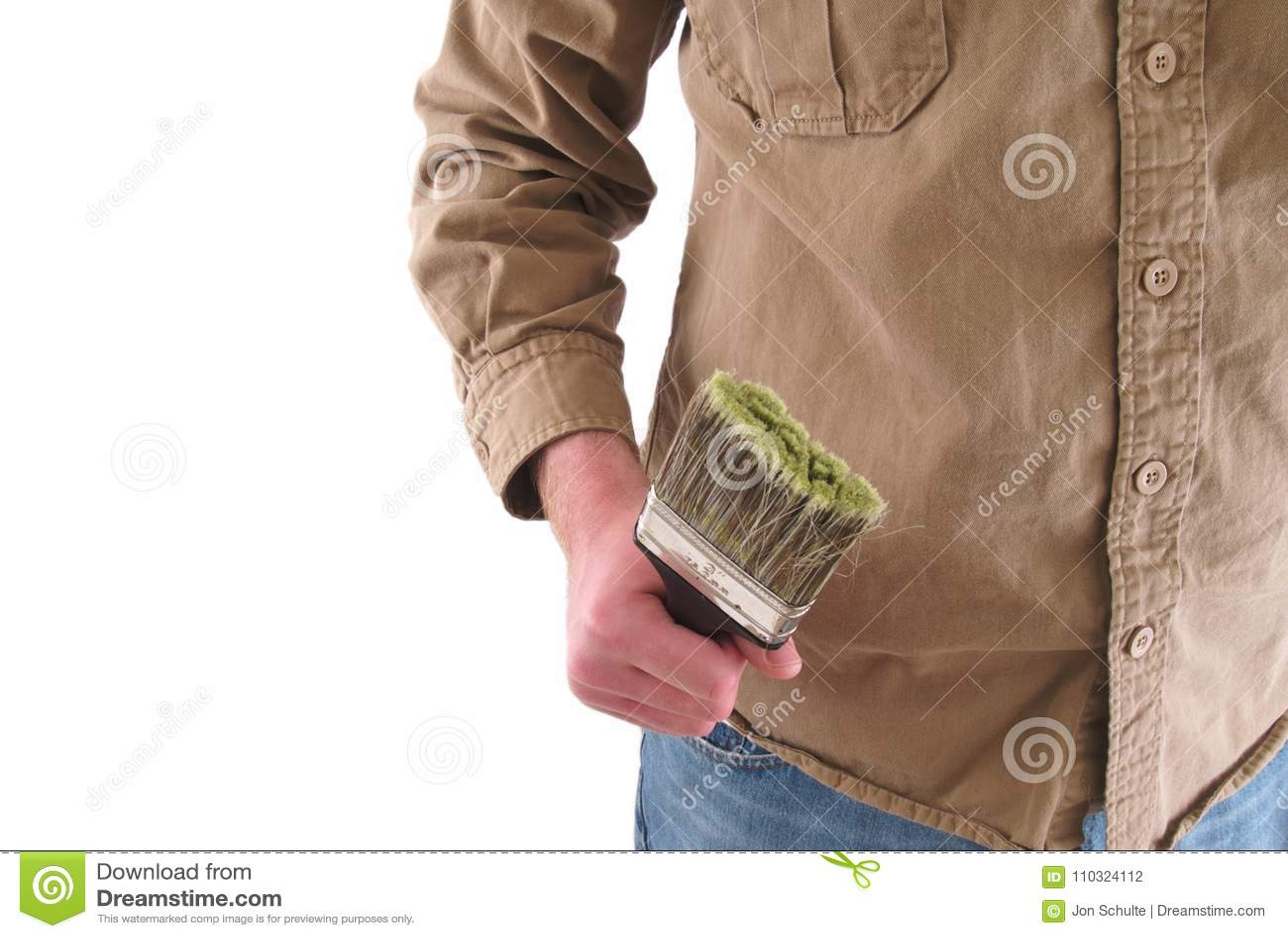 Картина работника человека