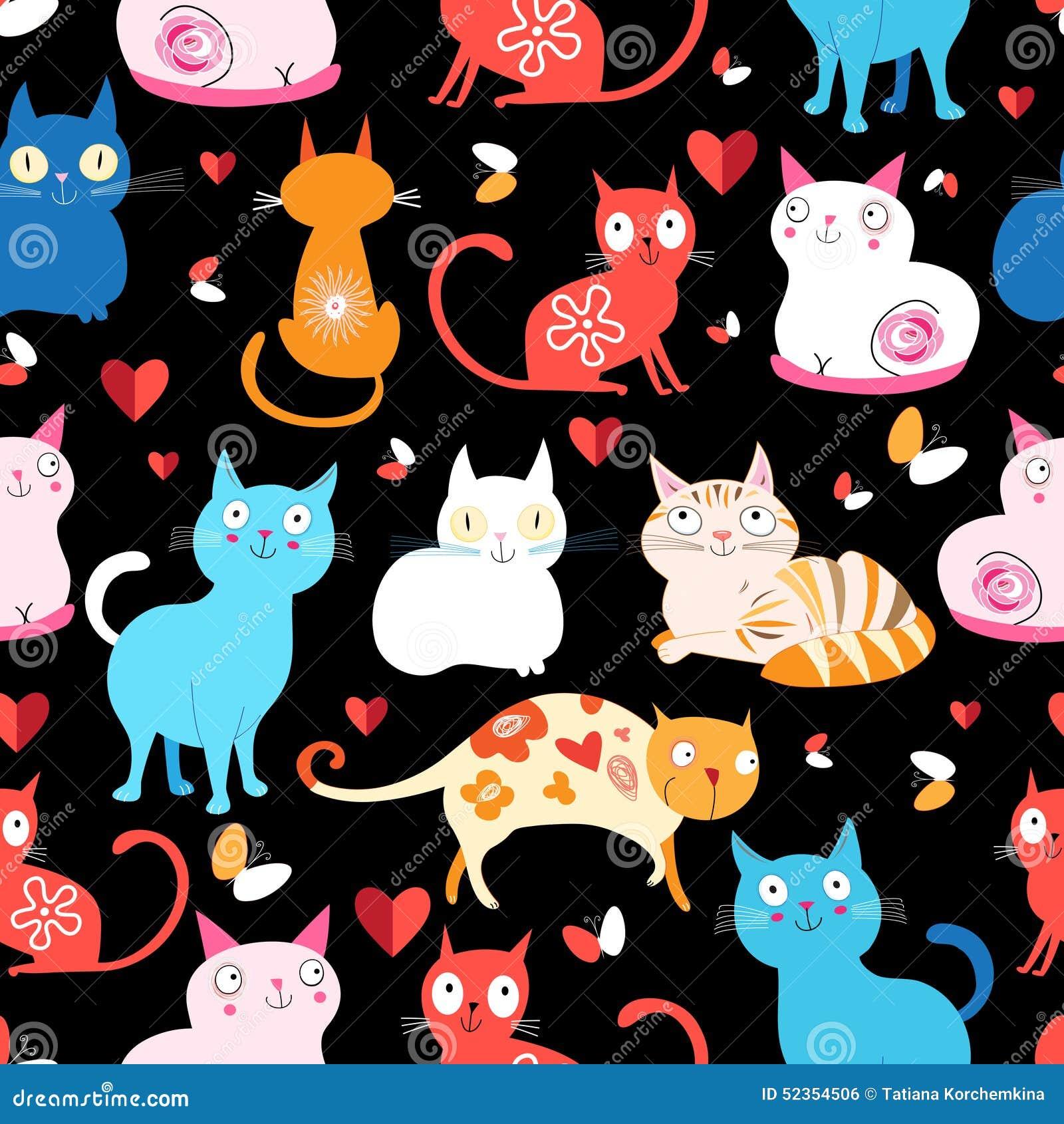 Картина различных котов