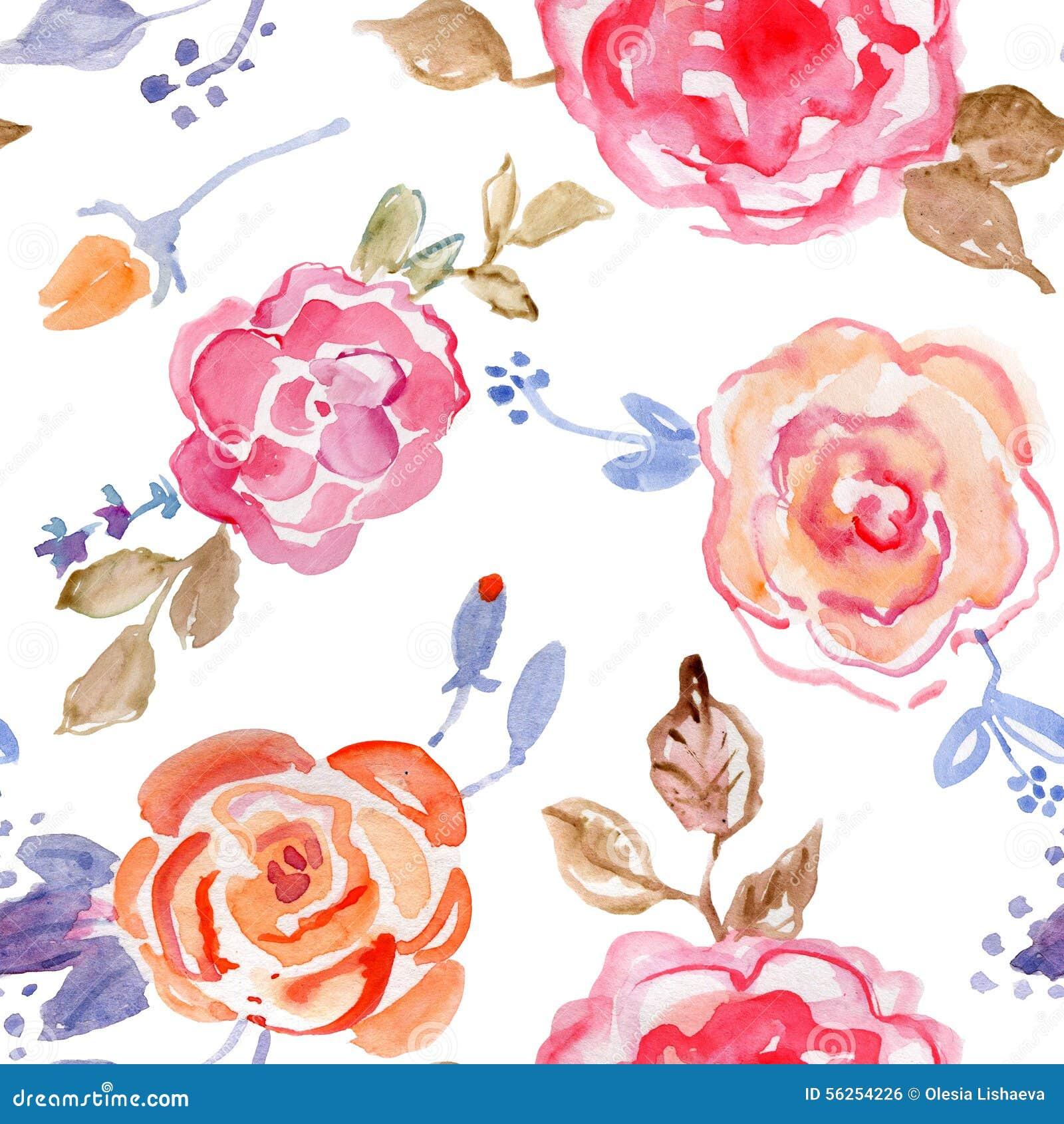 Картина розового дизайна букета безшовная на белой предпосылке