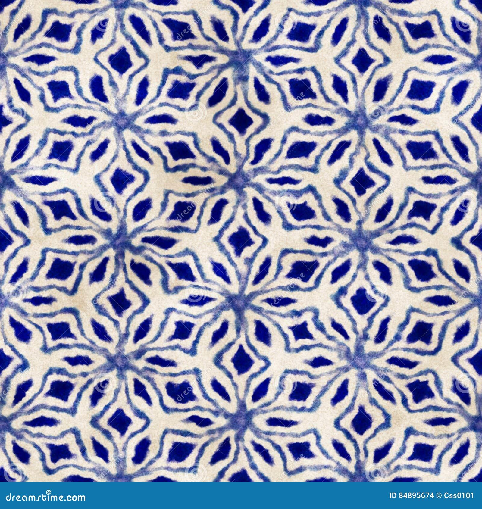 Картина родного стиля boho акварели батика безшовного художнического красочная квадратная