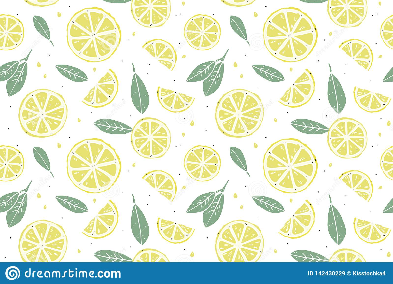 Картина свежего лимона безшовная