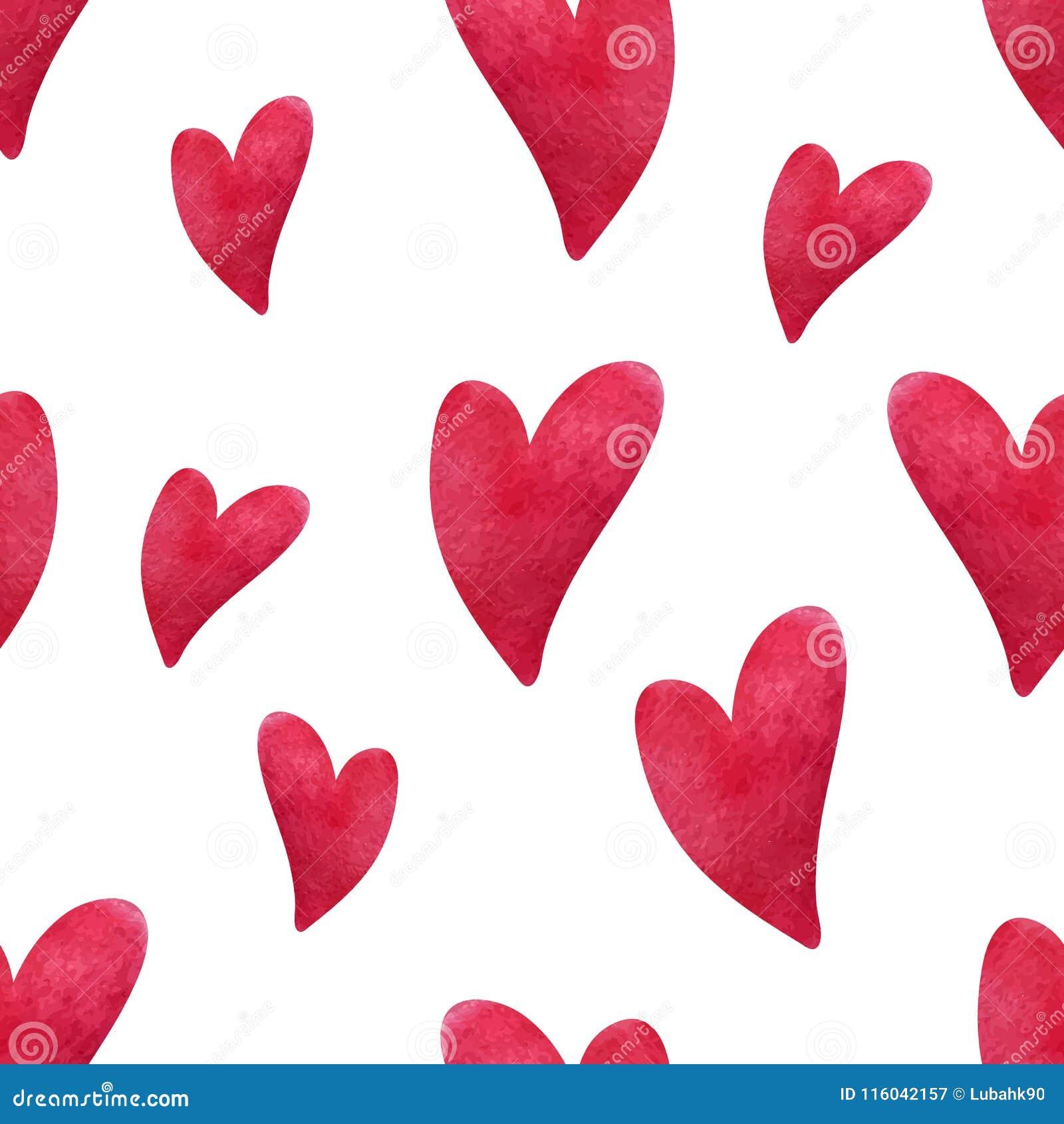 Картина сердца акварели Сердца покрашенные рукой на белой предпосылке Конструируйте для поздравительных открыток, свадьбы, дня ро
