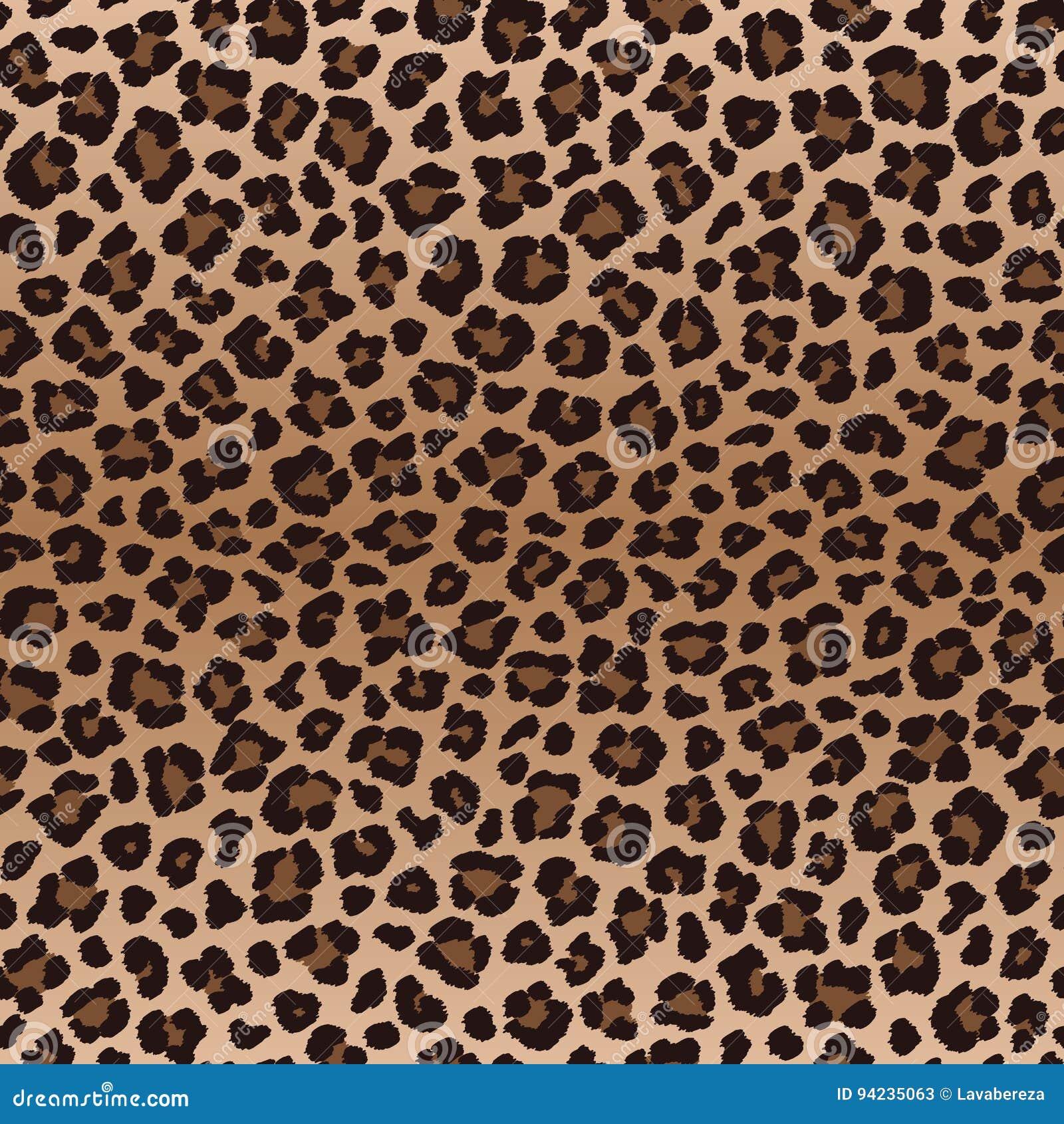 Картина скачками леопарда темного коричневого цвета безшовная, вектор