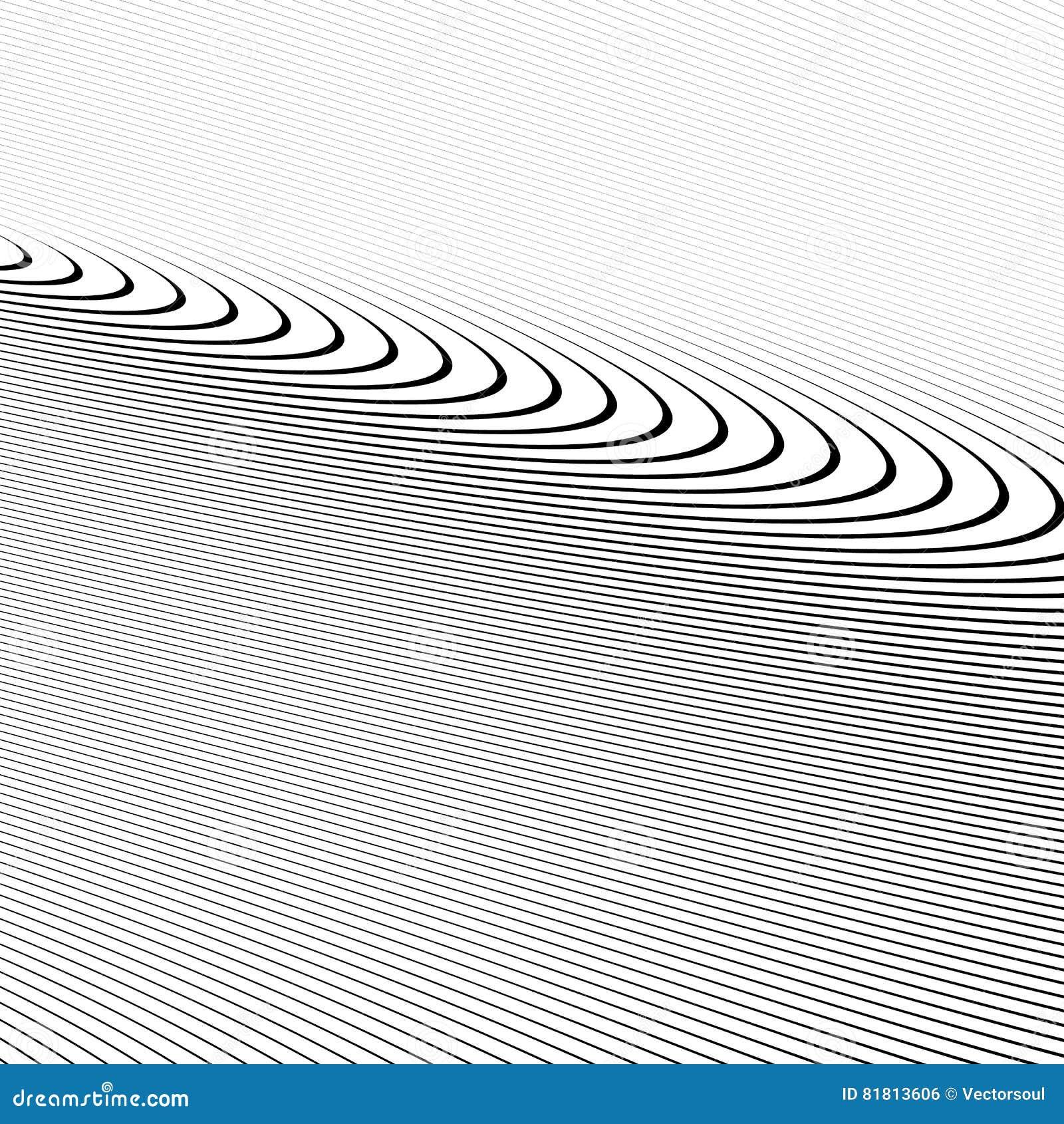 Картина с динамическим, линии сложной формы круга Геометрический циркуляр