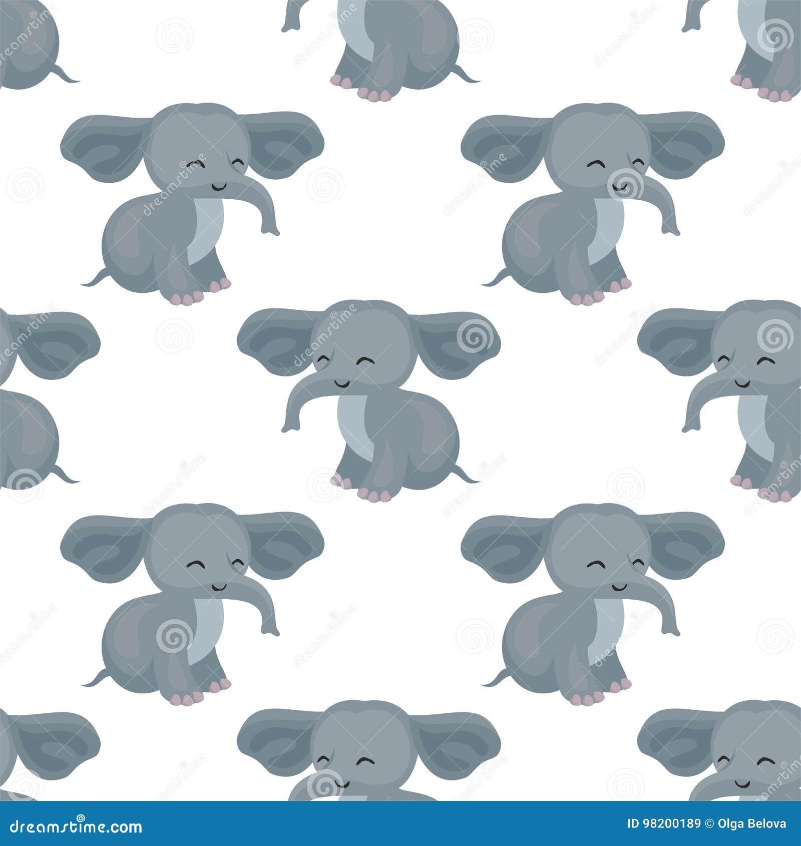 Download картина слона безшовная иллюстрация вектора. иллюстрации насчитывающей мило - 98200189