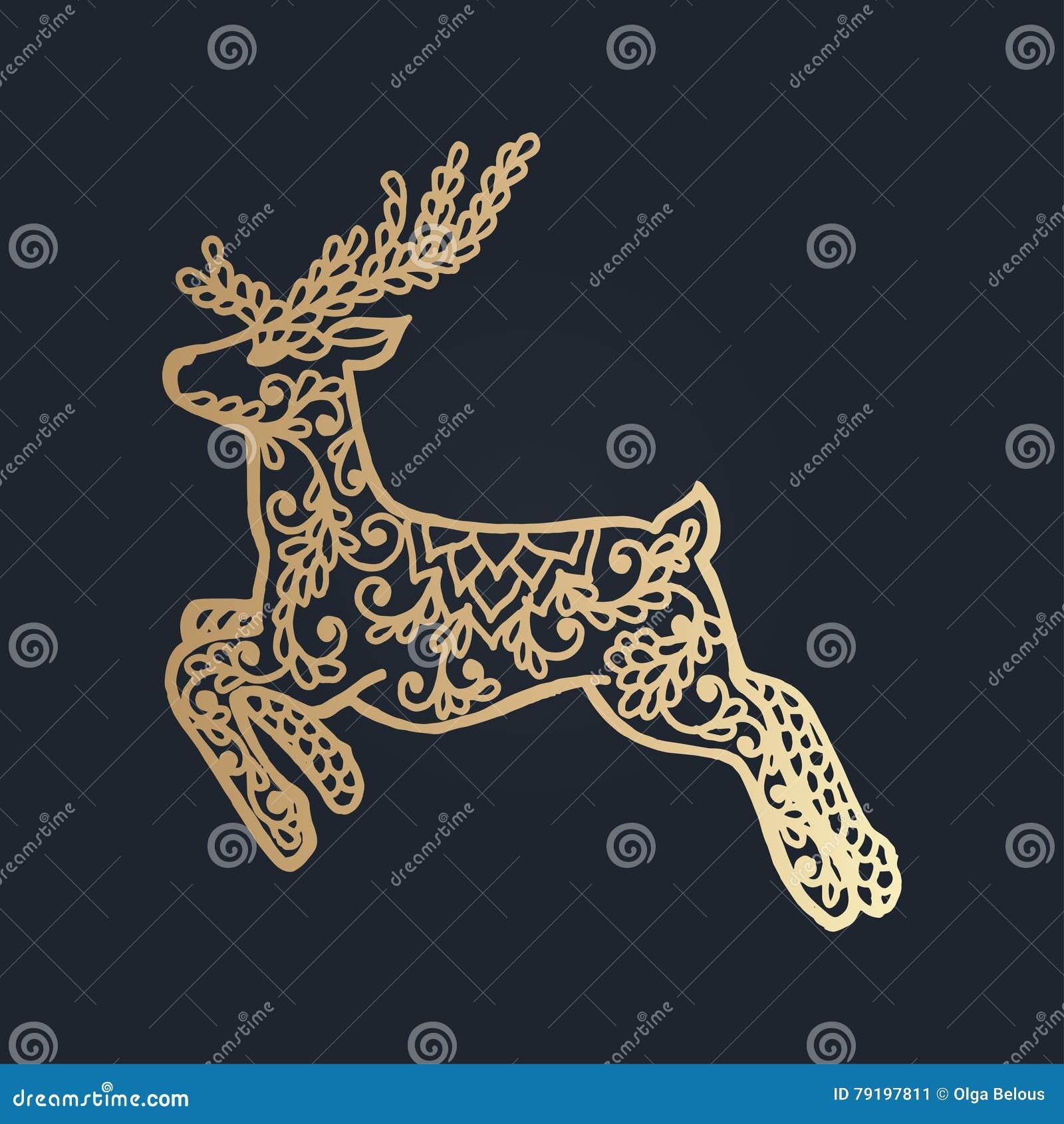 картина с флористическим орнаментом шнурка для собрания рождества